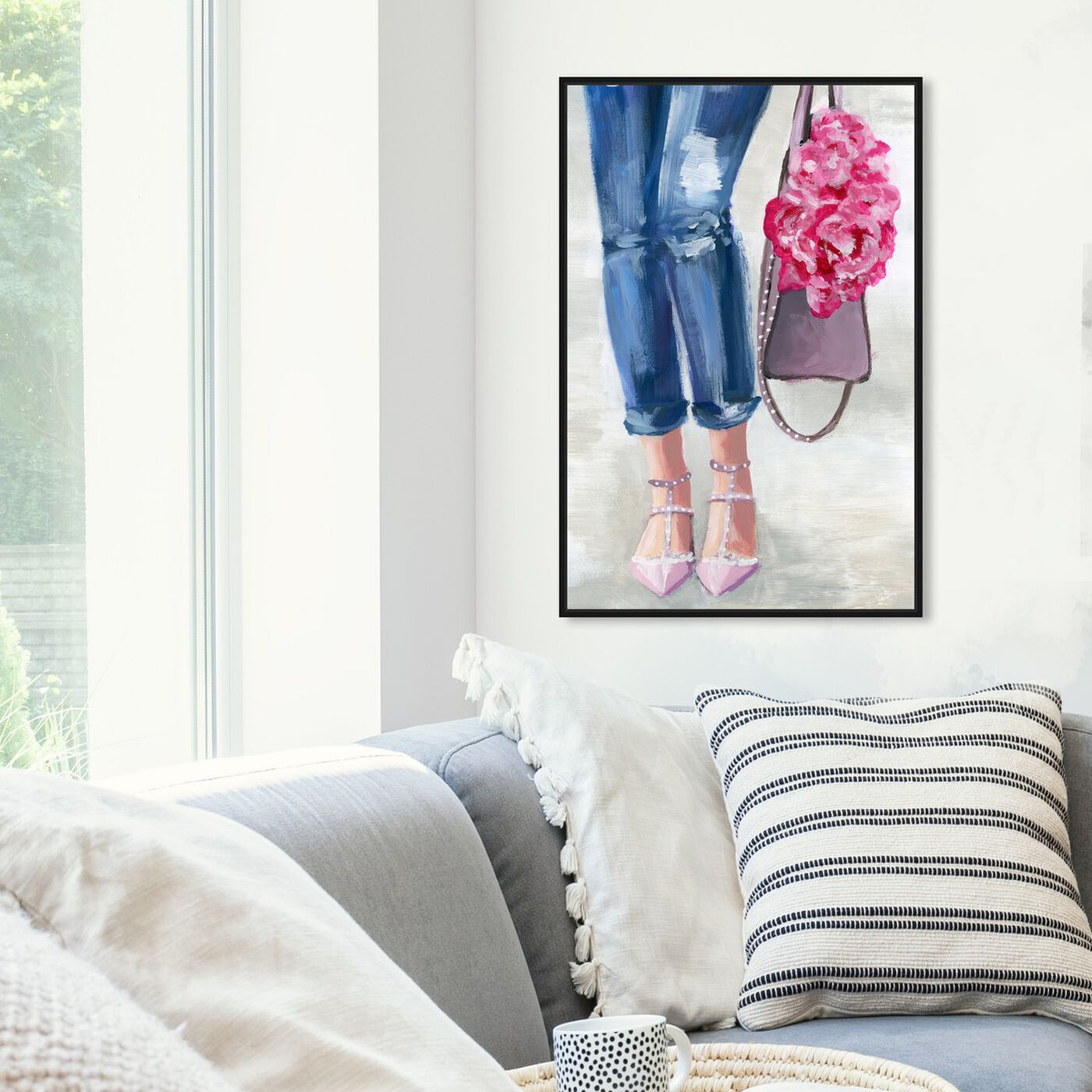Hanging view of Out and About Blush featuring fashion and glam and clothes art.