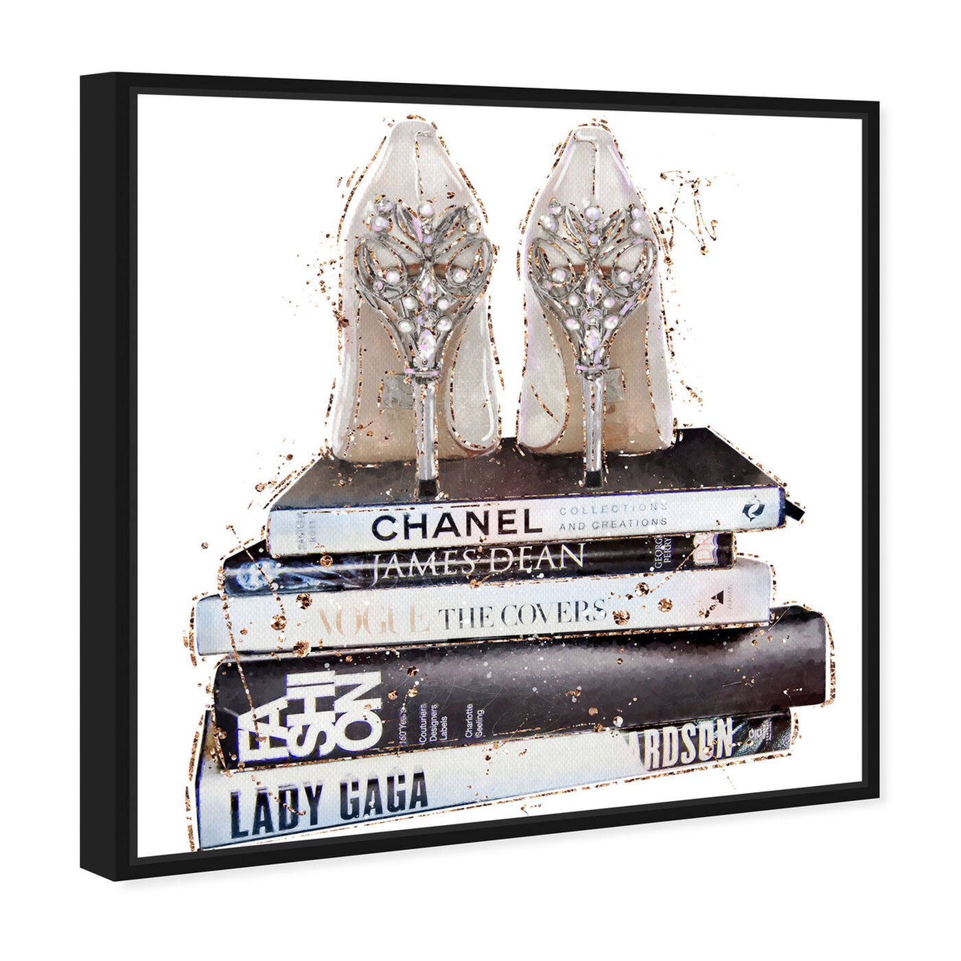 Angled view of Favorite Shoes II featuring fashion and glam and shoes art.