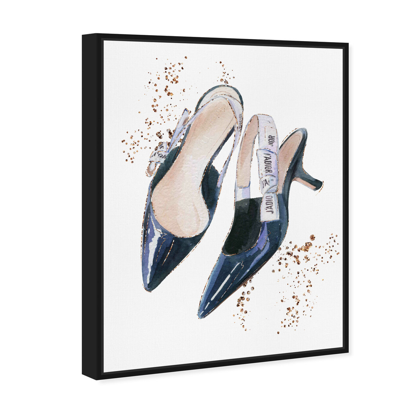 Angled view of I adore my daily shoes featuring fashion and glam and shoes art.