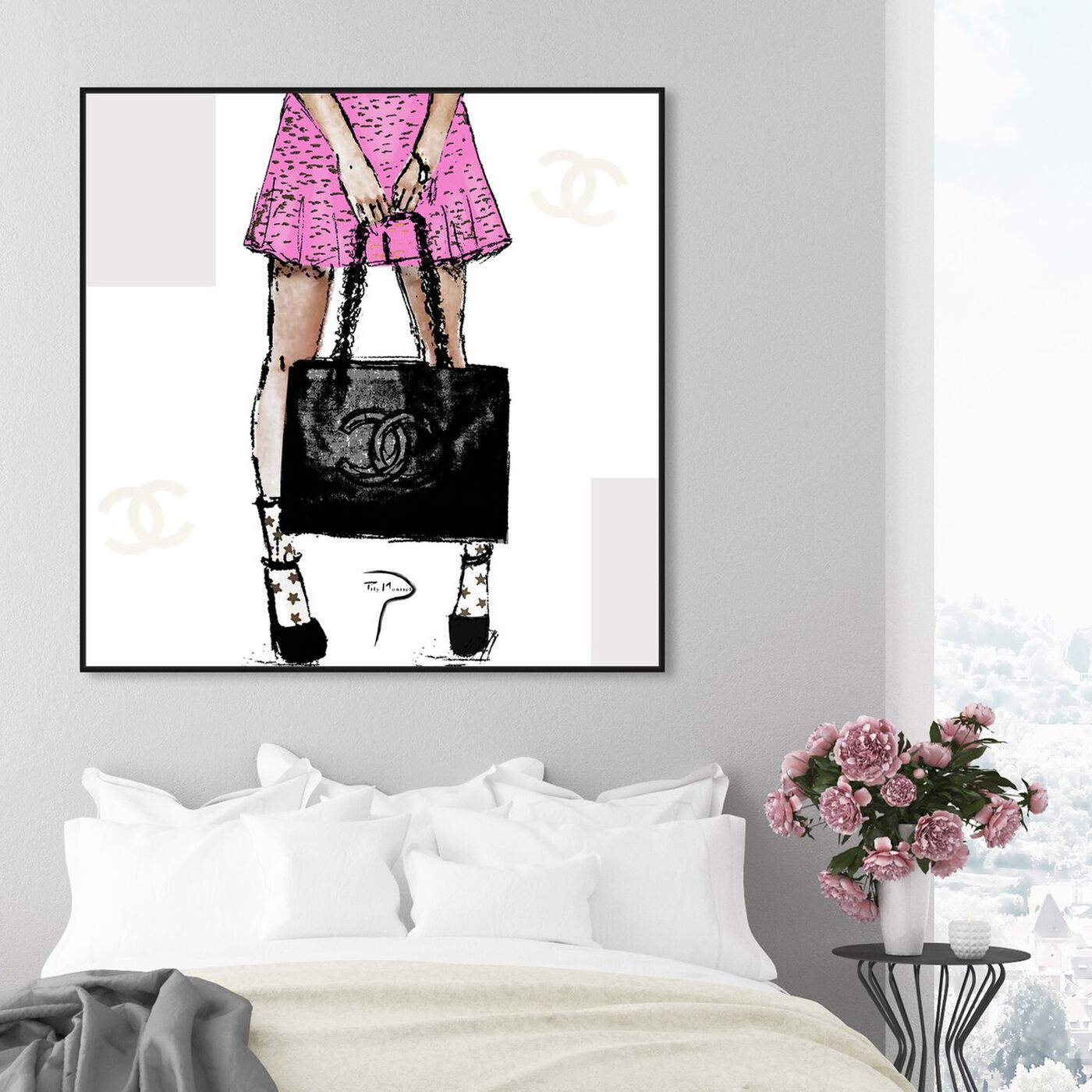 Hanging view of Pily Montiel - Tweed skirt featuring fashion and glam and outfits art.