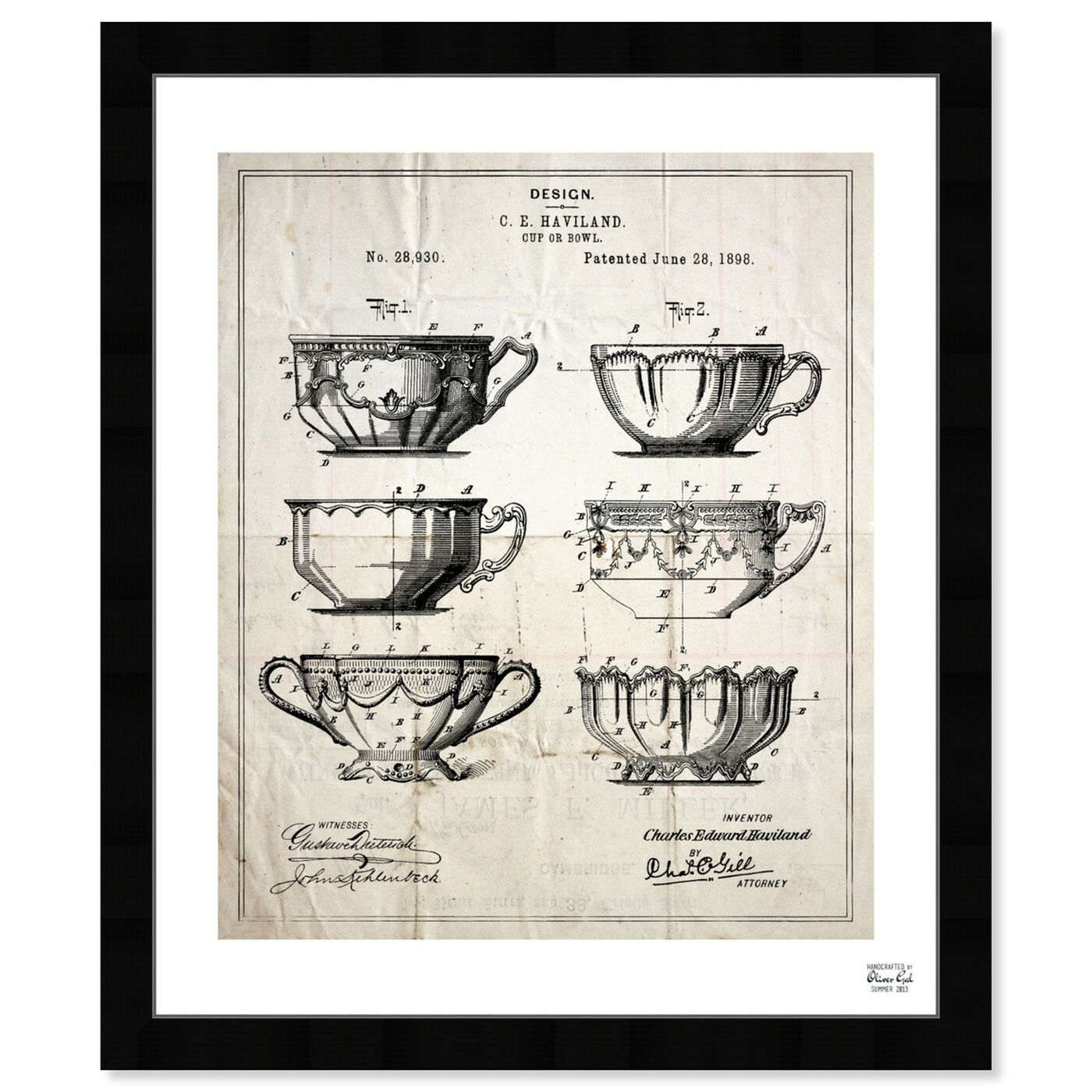 Front view of Design For A Cup 1898 featuring food and cuisine and kitchen art.