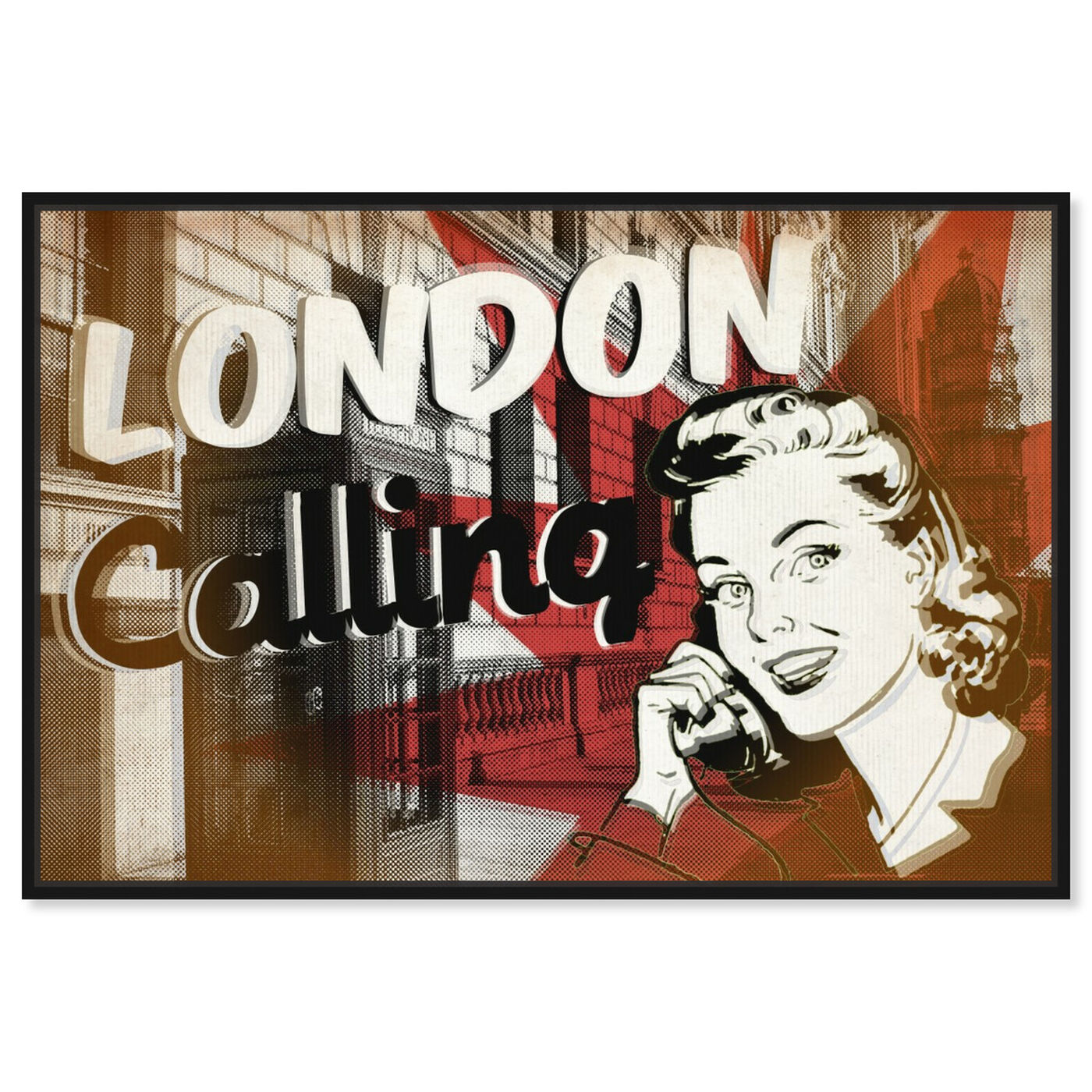 Front view of London Calling featuring advertising and posters art.
