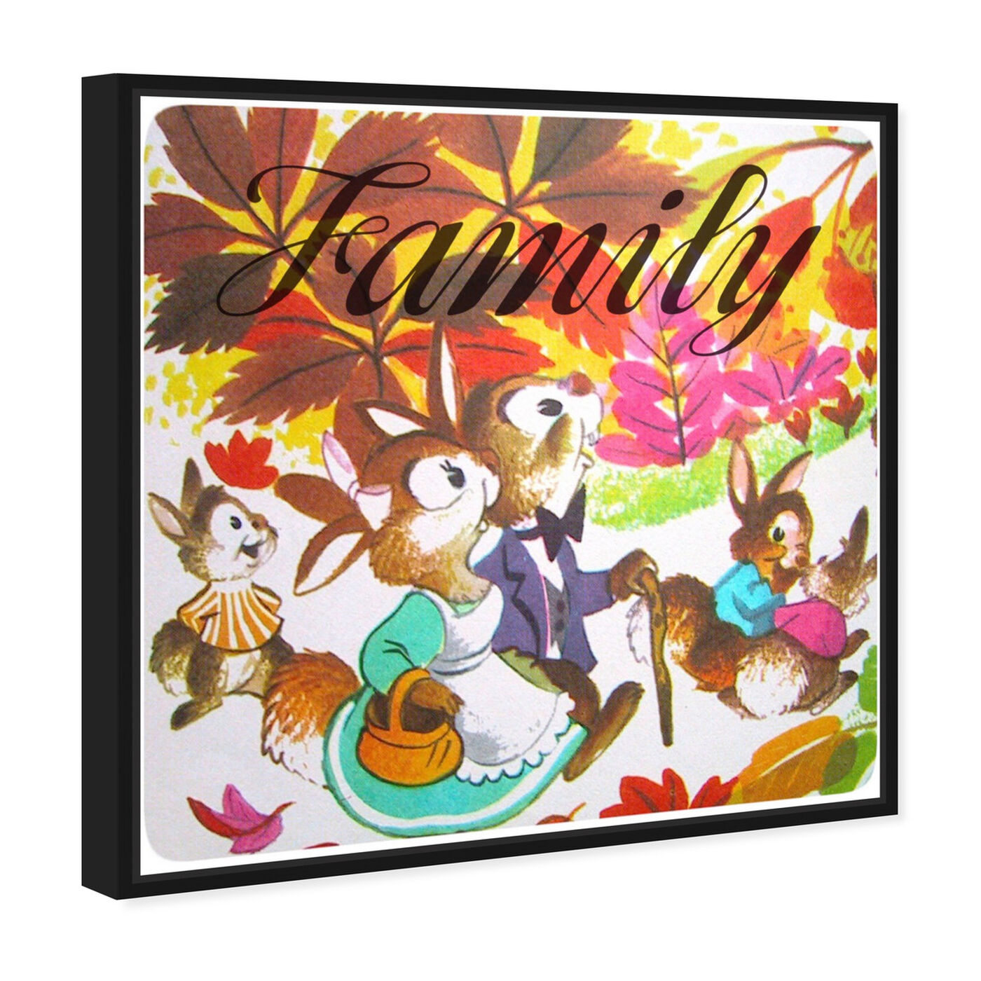 Angled view of Family featuring animals and farm animals art.