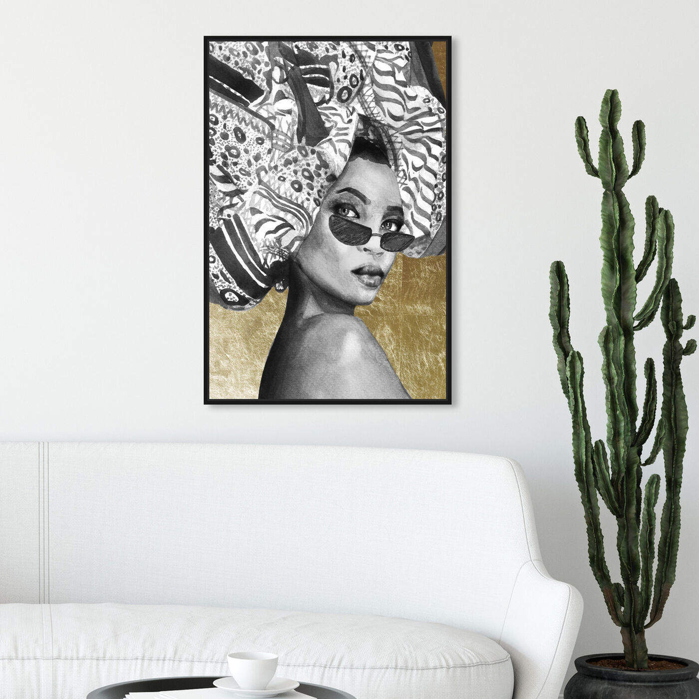 Hanging view of Goddess of Tigris featuring fashion and glam and portraits art.