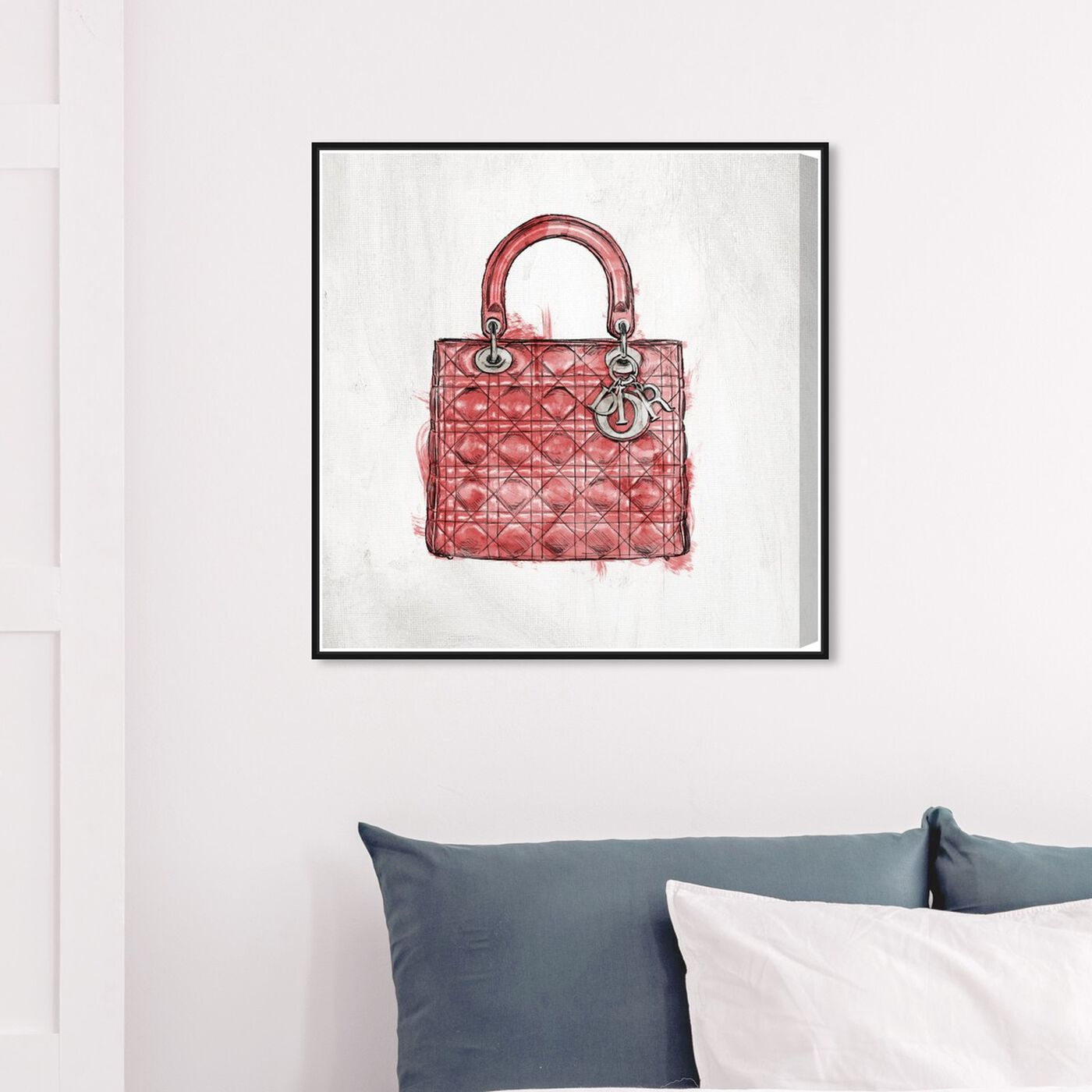 Hanging view of Christian's Essentials Red featuring fashion and glam and handbags art.