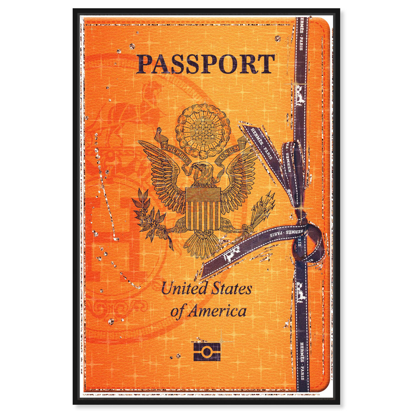 Front view of French Passport featuring fashion and glam and travel essentials art.