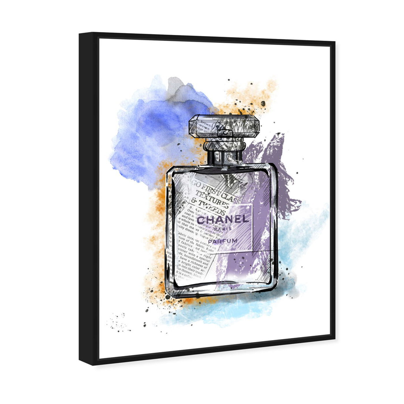 Angled view of Scented News featuring fashion and glam and perfumes art.