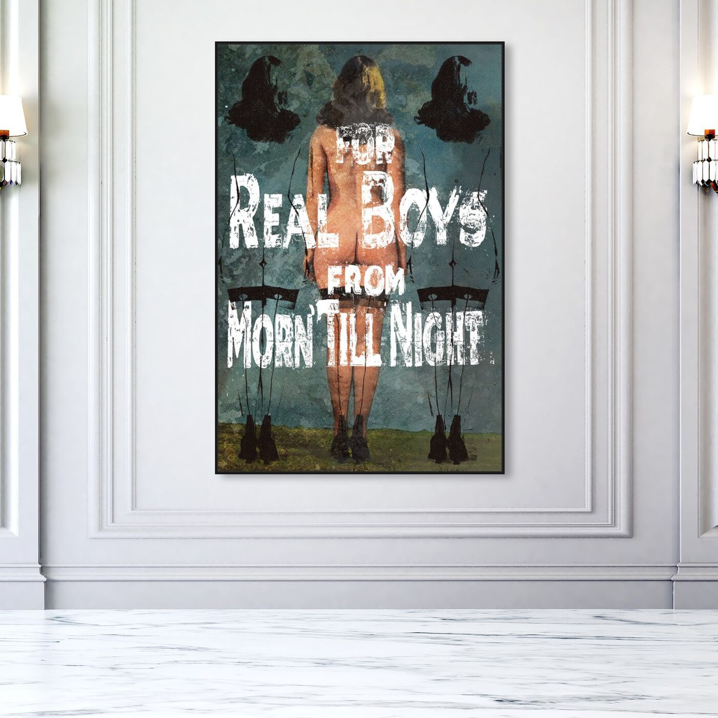 Hanging view of For Real Boys featuring holiday and seasonal and holidays art.