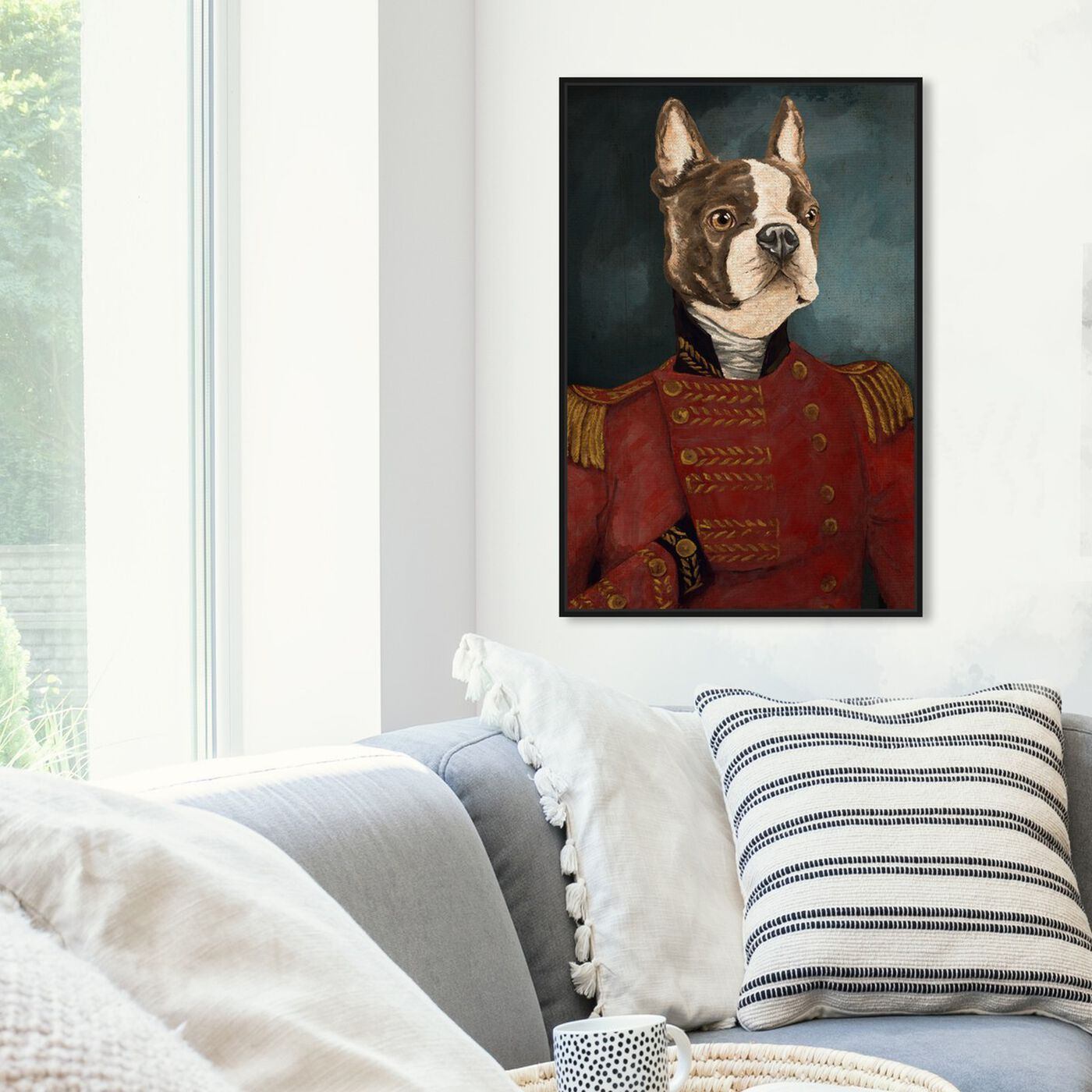 Hanging view of Dapper Terrier featuring animals and dogs and puppies art.