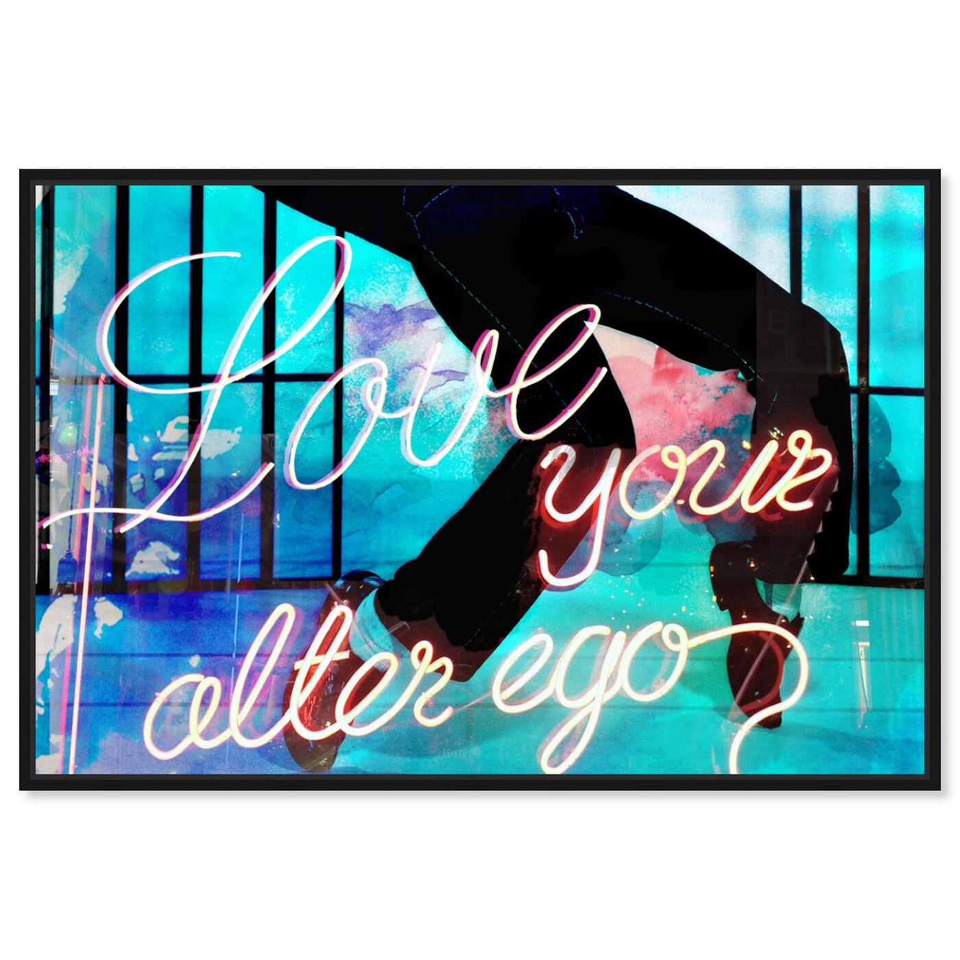 Front view of Love Your Alter Ego featuring typography and quotes and love quotes and sayings art.