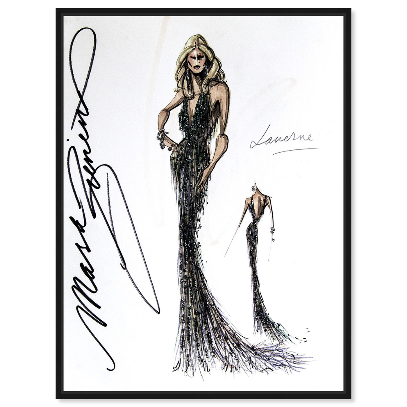 Front view of Mark Zunino - Laverne featuring fashion and glam and dress art.