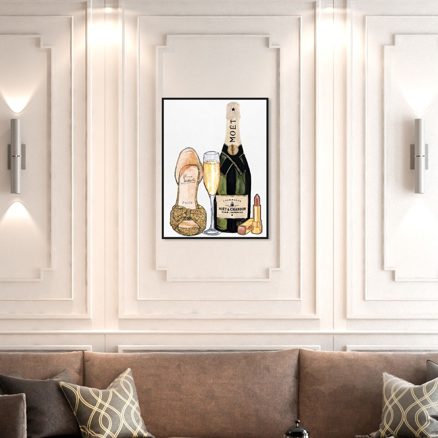 Hanging view of The Golden Hour featuring fashion and glam and shoes art.