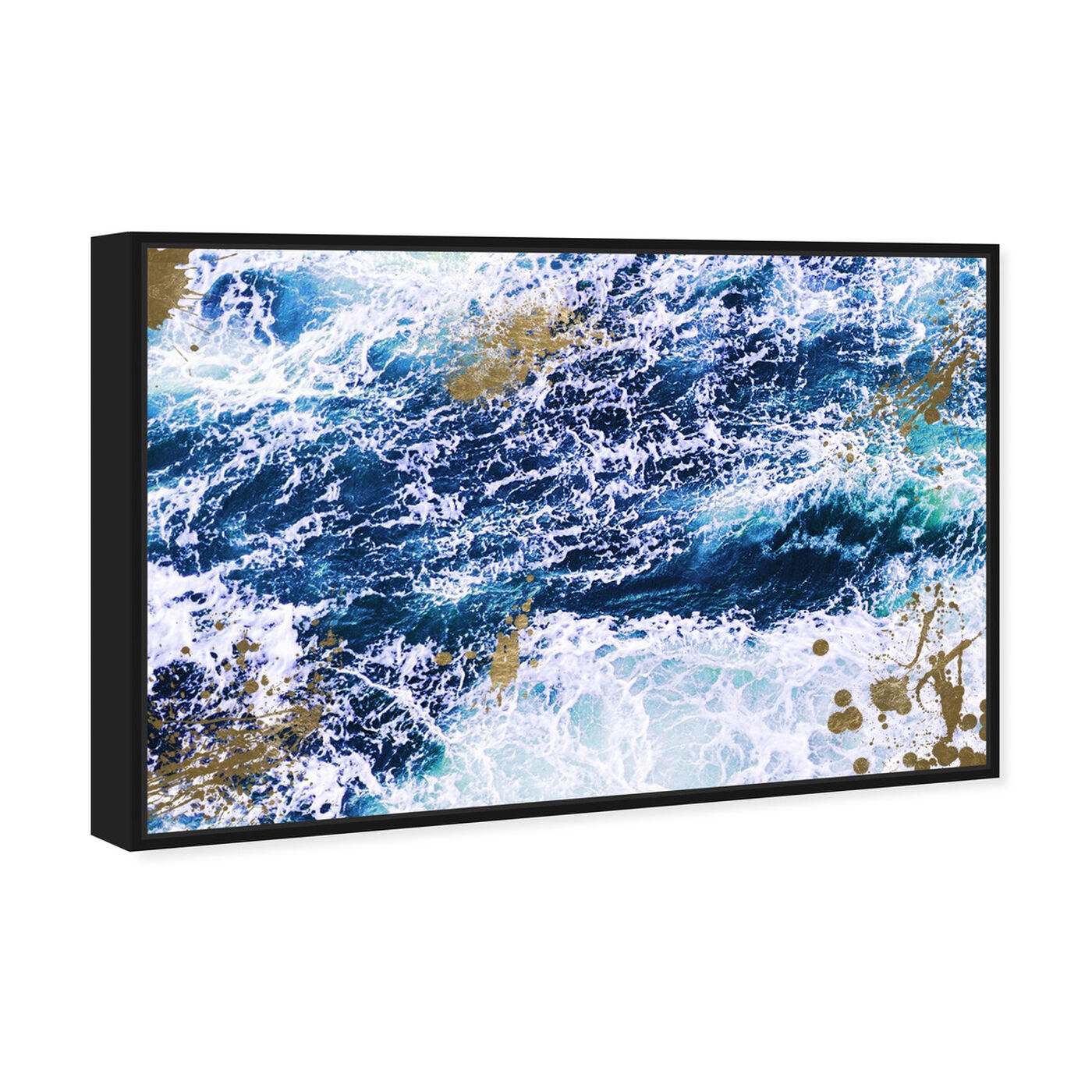 Angled view of Seas of Gold featuring nautical and coastal and coastal art.