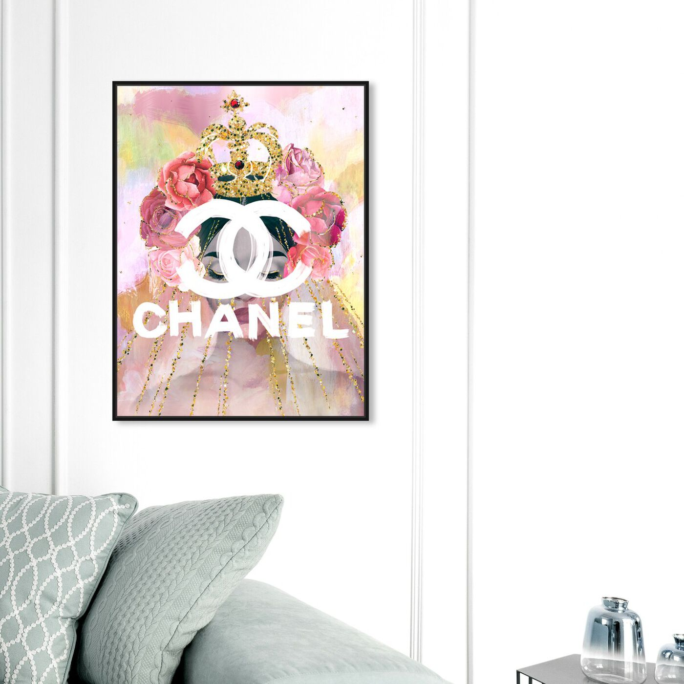 Hanging view of Crown Couture Queen featuring fashion and glam and lifestyle art.