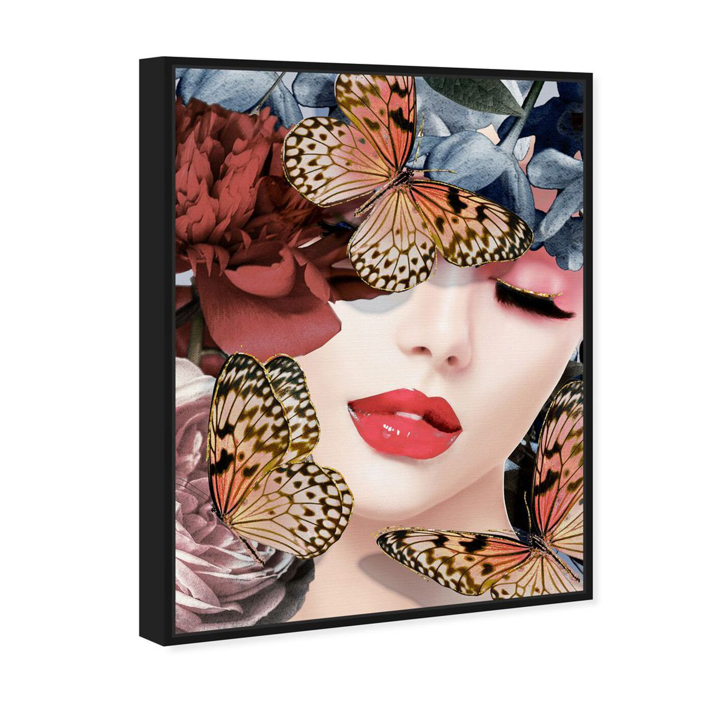 Angled view of Monarch in the Meadow featuring fashion and glam and lips art.