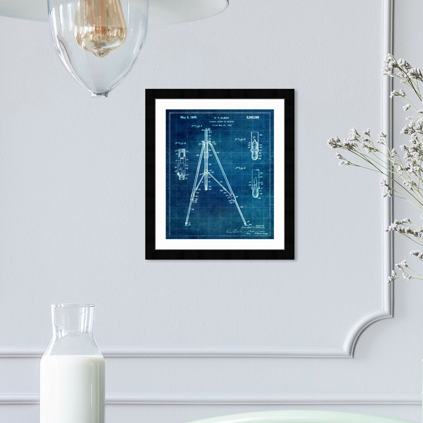 Hanging view of Tripod 1942 I featuring entertainment and hobbies and photography art.