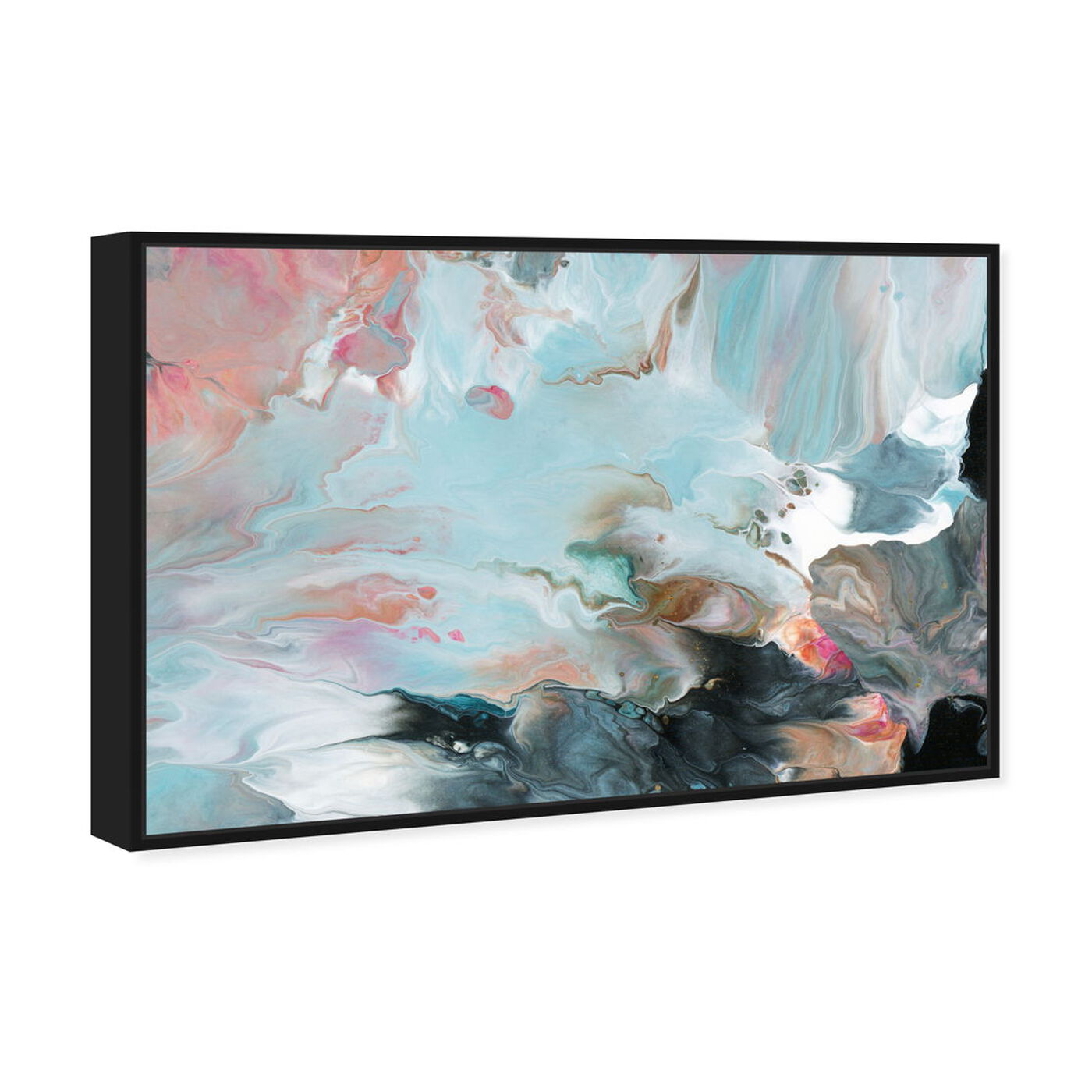 Angled view of Dreaming in Colors featuring abstract and paint art.