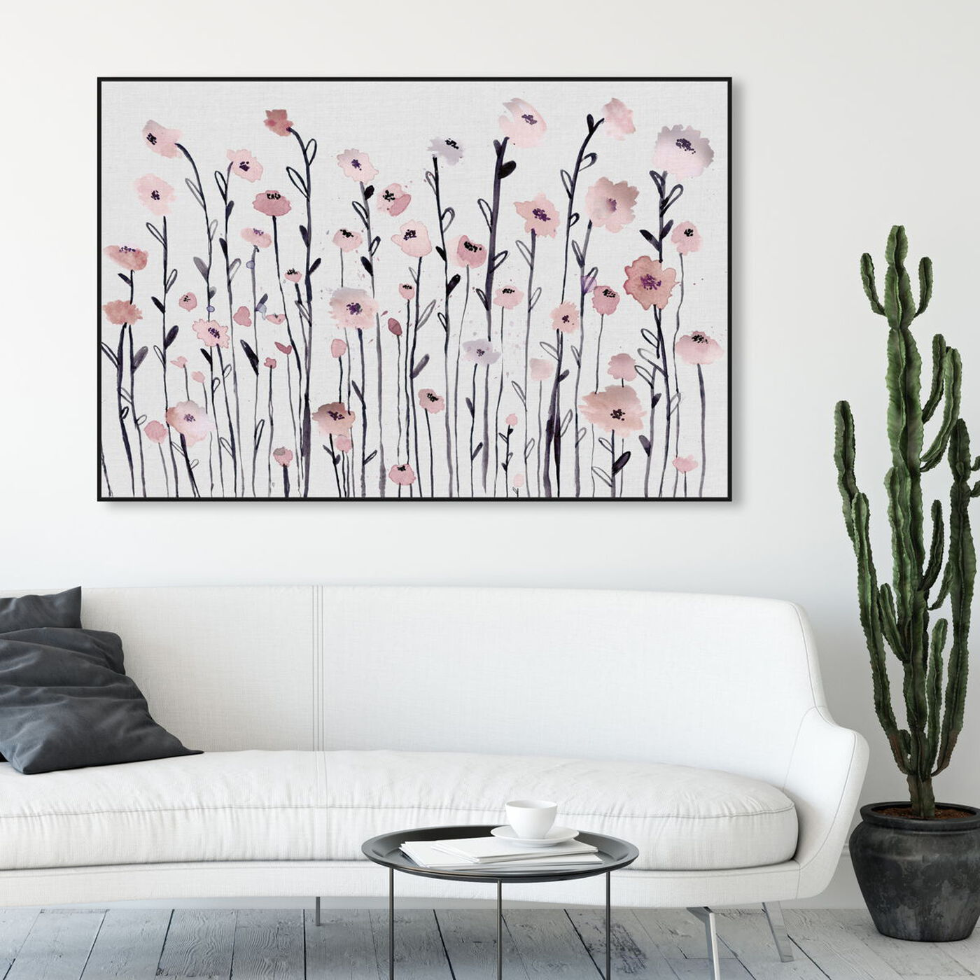 Hanging view of Garden of Dusty Rose featuring floral and botanical and gardens art.
