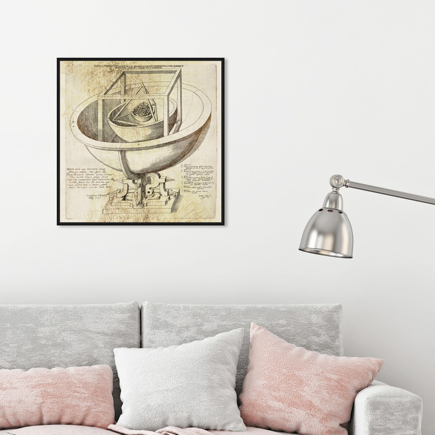 Hanging view of Gold Dusted Planetarium featuring astronomy and space and planets art.