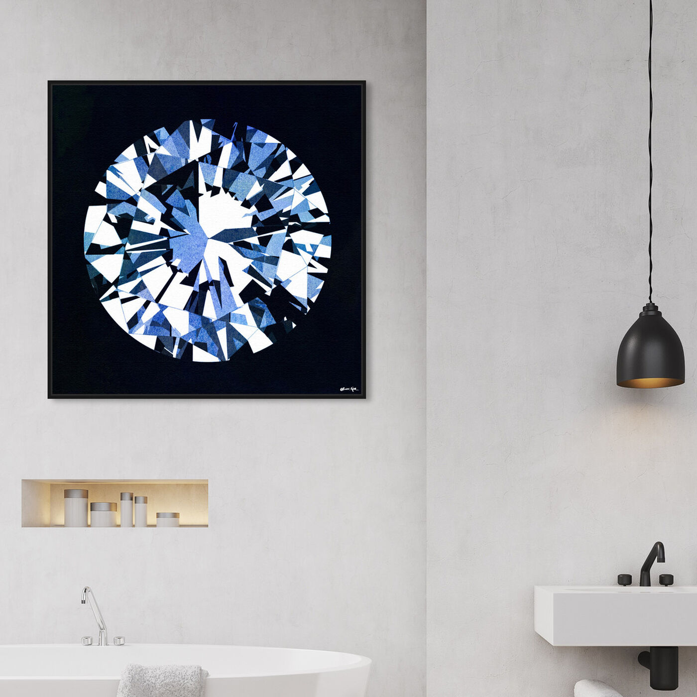 Hanging view of Diamonds Are Forever featuring fashion and glam and jewelry art.