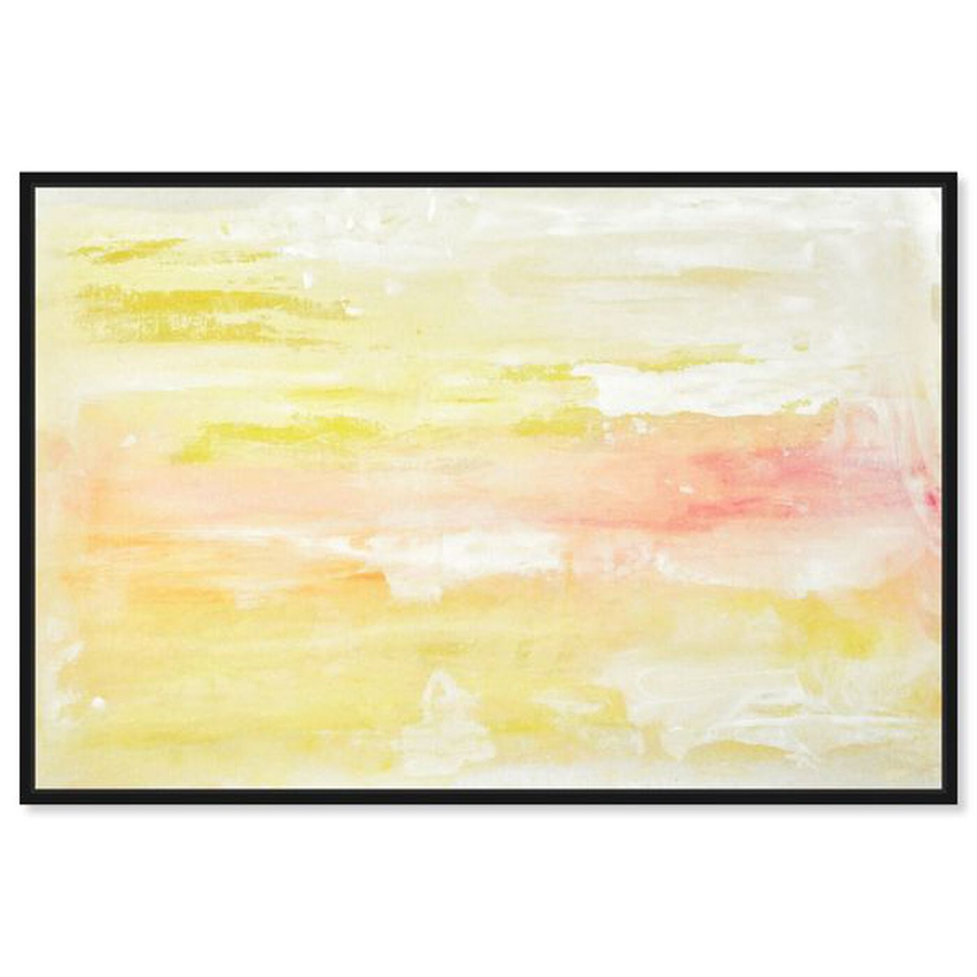 Front view of Peaceful Sunset featuring abstract and paint art.
