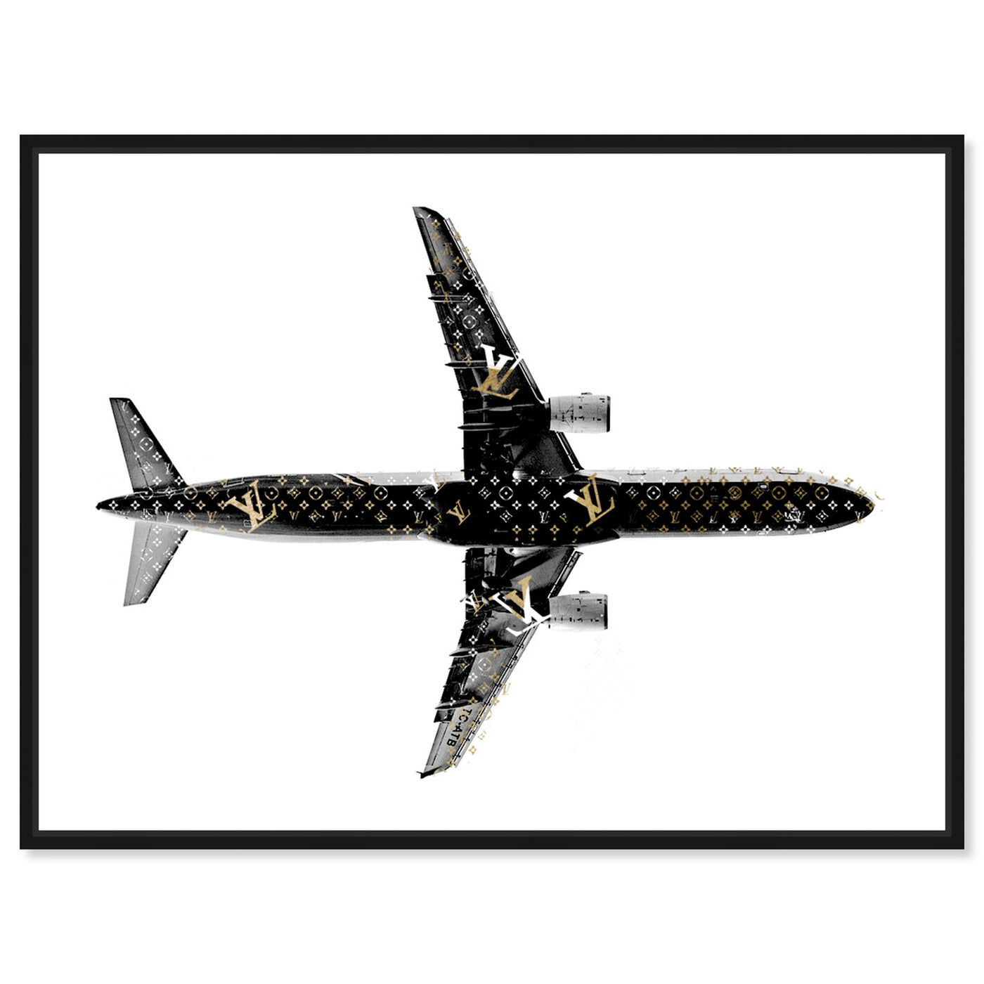 Front view of Trendsetter LV Airlines featuring fashion and glam and lifestyle art.