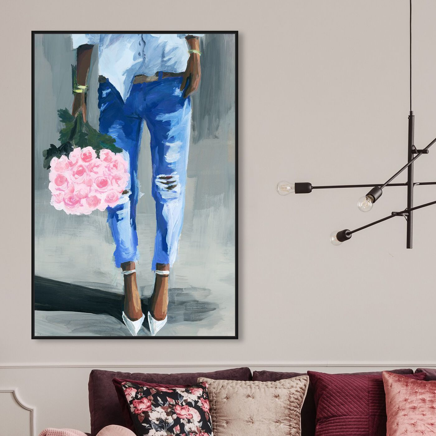 Hanging view of Me and My Bouquet featuring fashion and glam and outfits art.