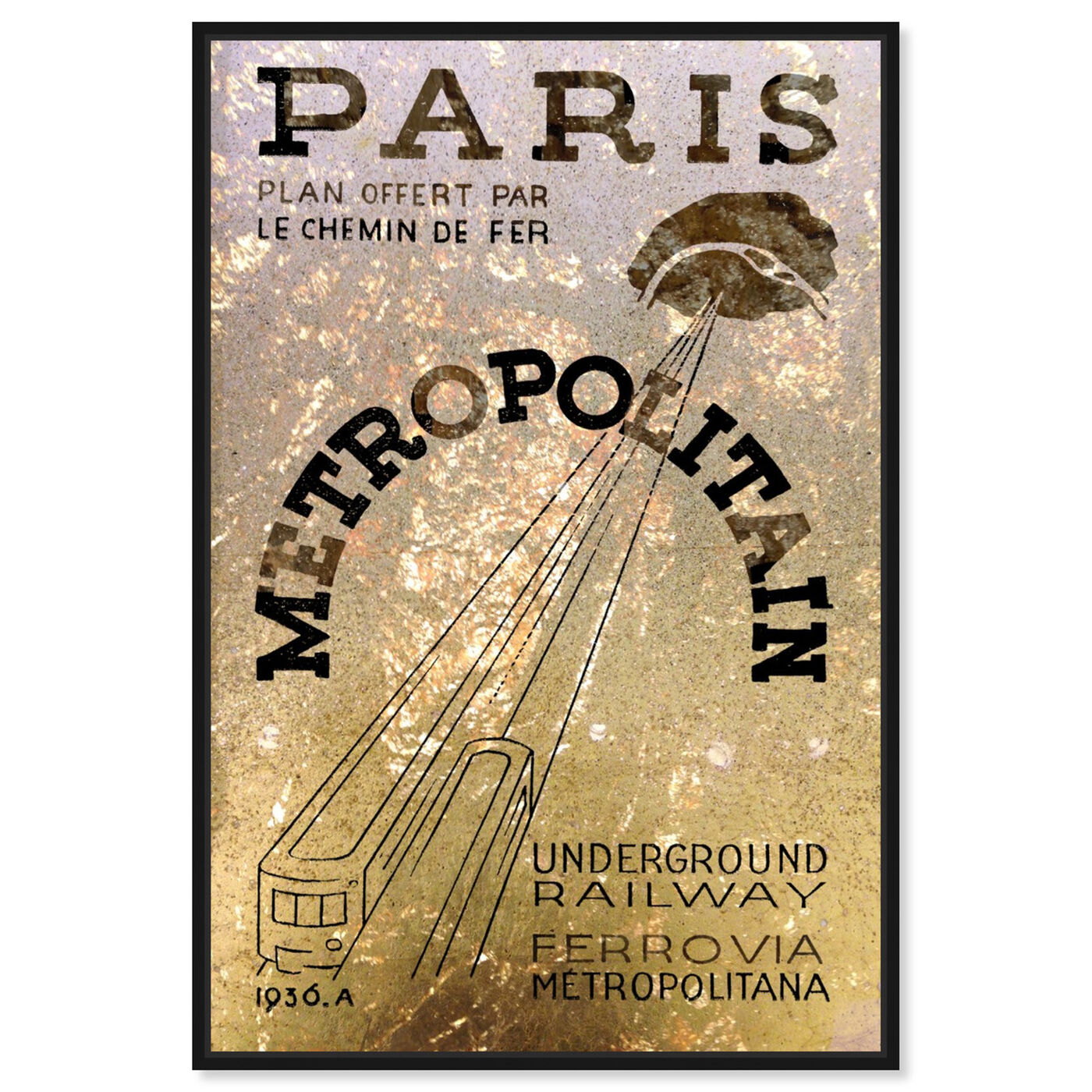 Front view of Paris 1936 Railway featuring cities and skylines and european cities art.