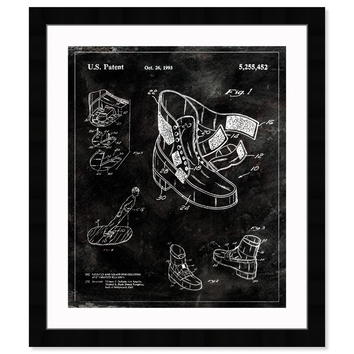 Front view of Michael Jackson Moonwalk Shoes 1993 featuring fashion and glam and shoes art.