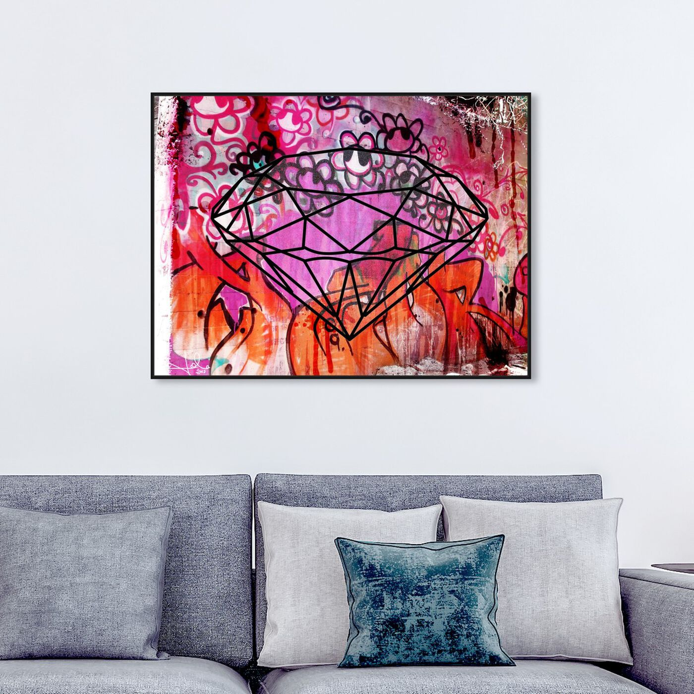 Hanging view of Rock Solid featuring abstract and geometric art.