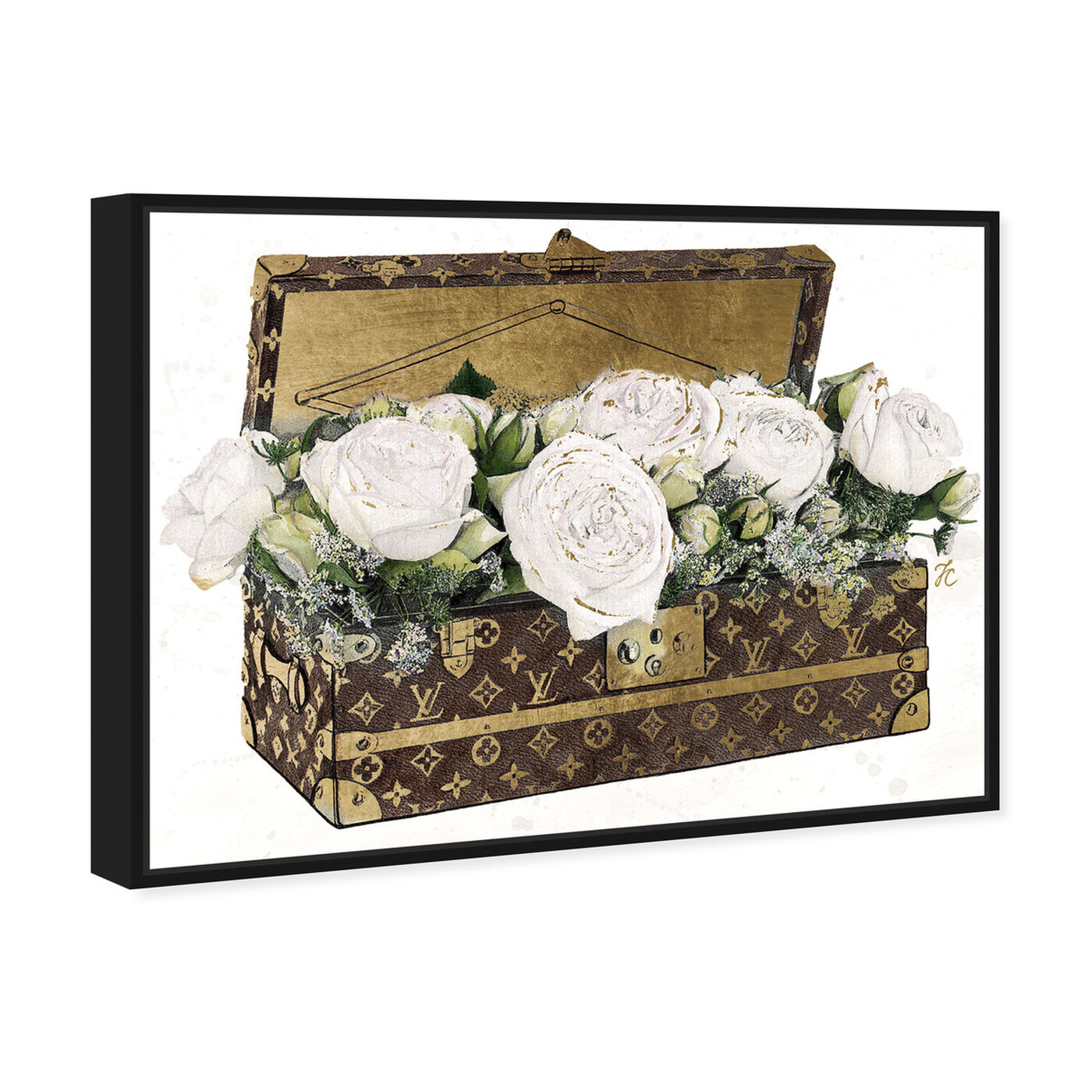 Angled view of Doll Memories - Trunk of Roses Eclair featuring fashion and glam and travel essentials art.