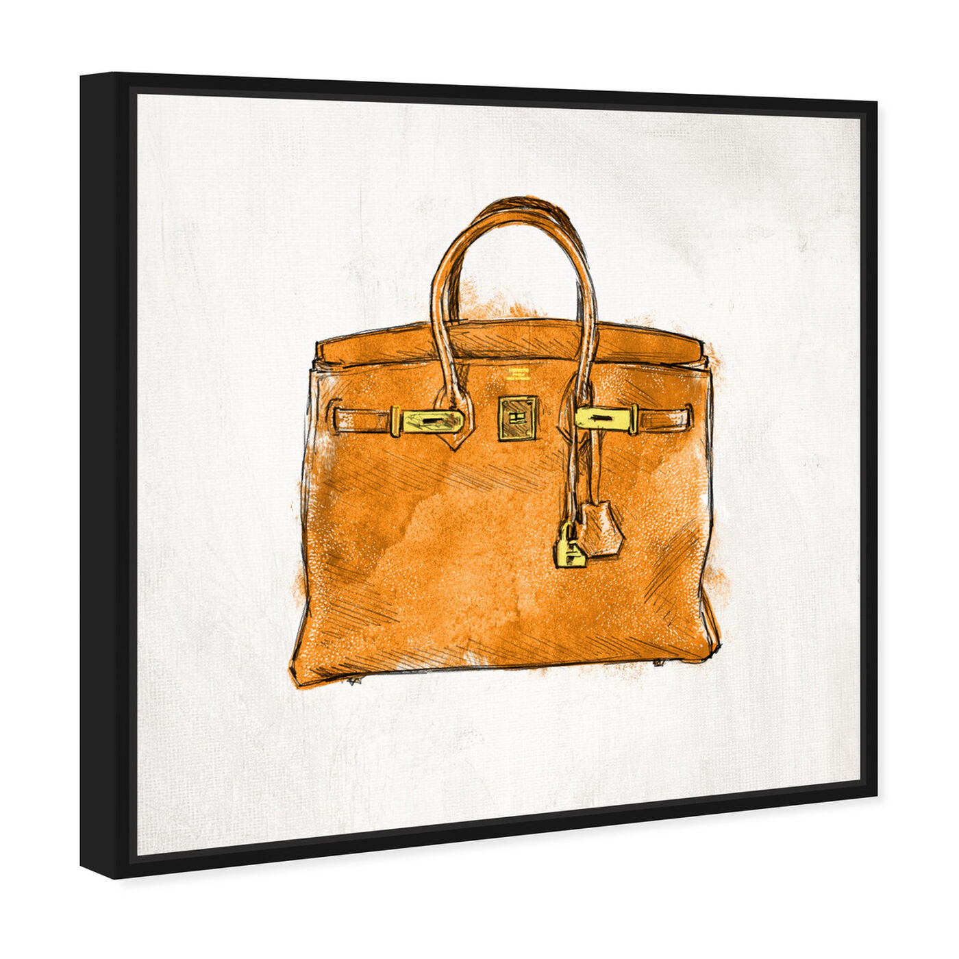 Angled view of My Lucky Bag featuring fashion and glam and handbags art.