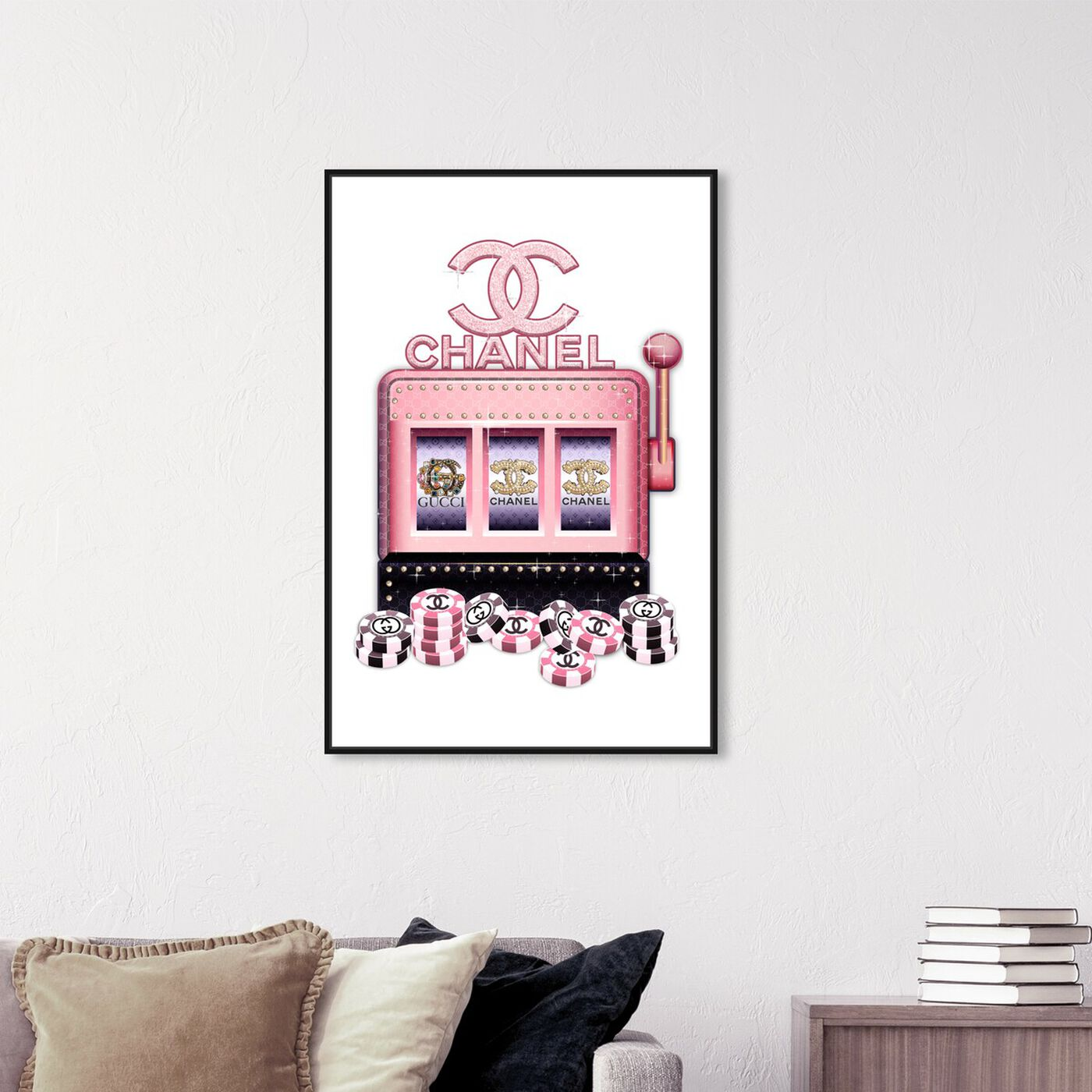 Hanging view of Couture Pink Slots featuring fashion and glam and fashion lifestyle art.