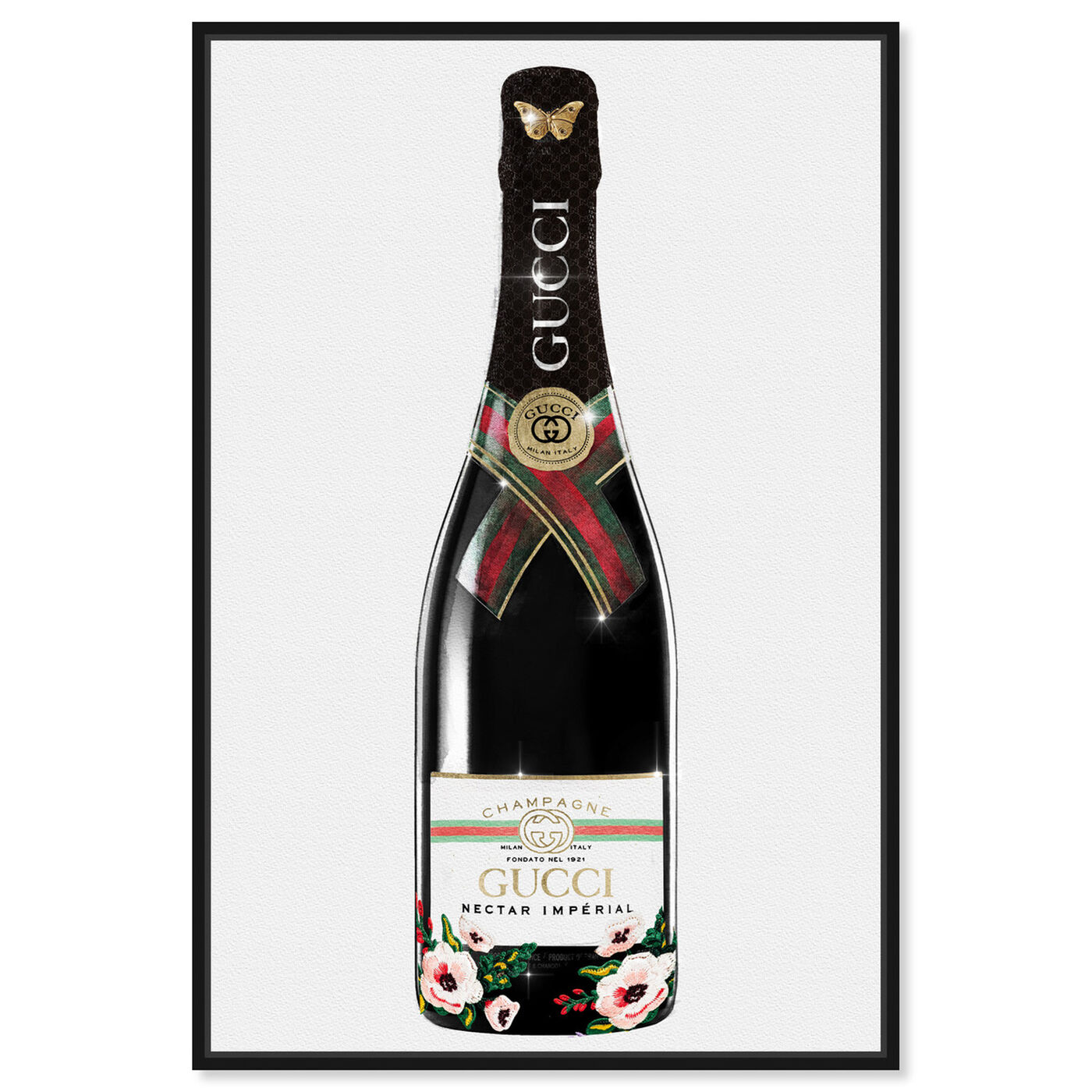 Front view of Italian Mod Champagne featuring fashion and glam and lifestyle art.