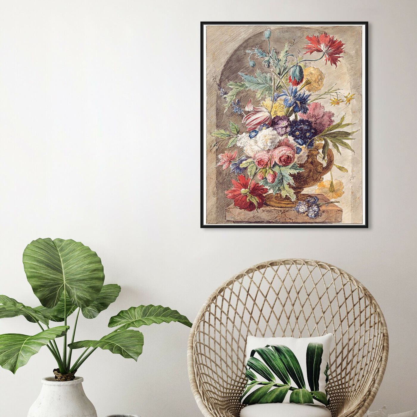 Hanging view of Huysum - Flower Still Life featuring classic and figurative and renaissance art.