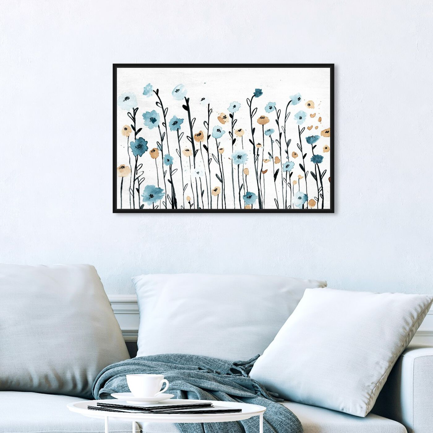Hanging view of Beautiful Growth featuring floral and botanical and florals art.