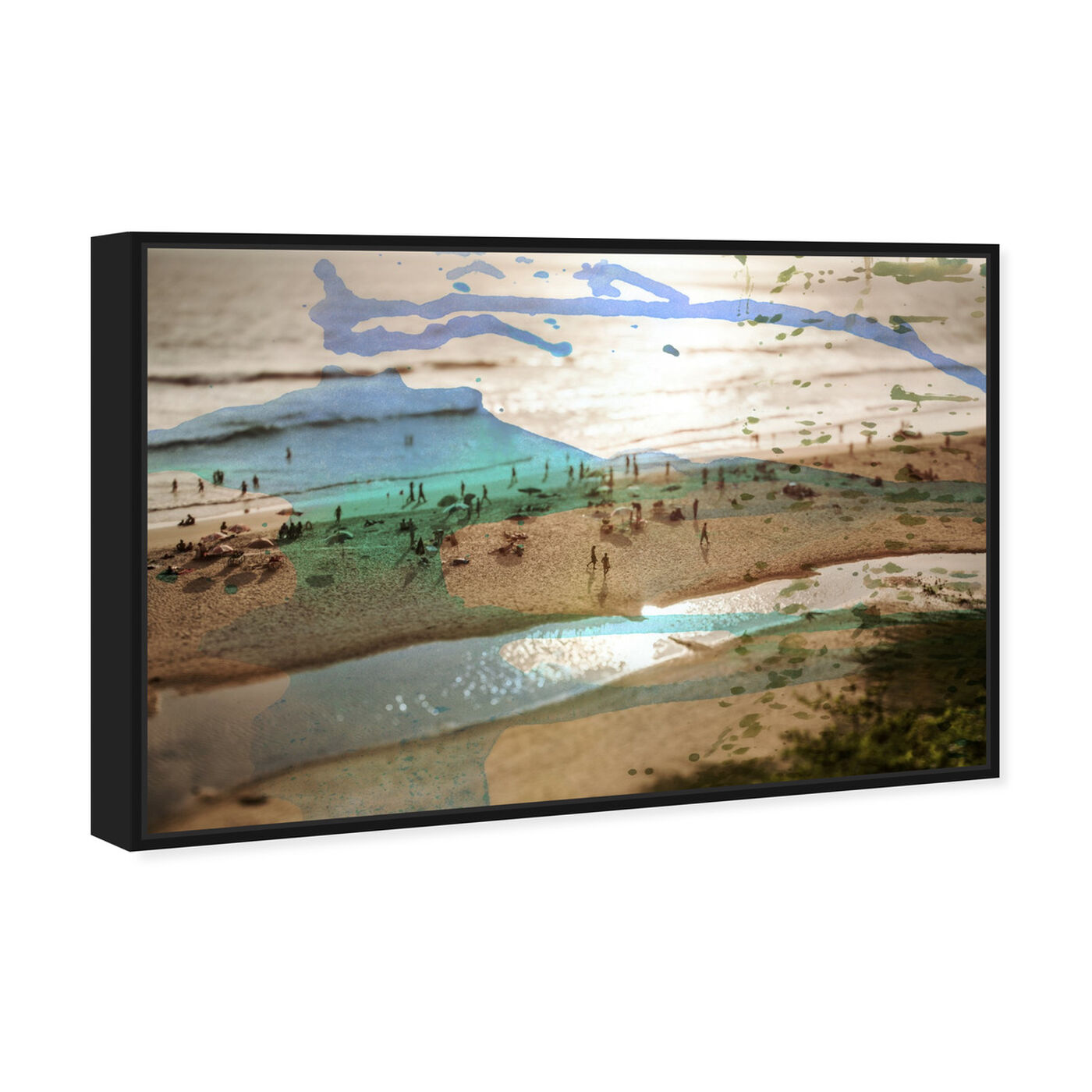Angled view of Tunitas Beach featuring nautical and coastal and coastal art.