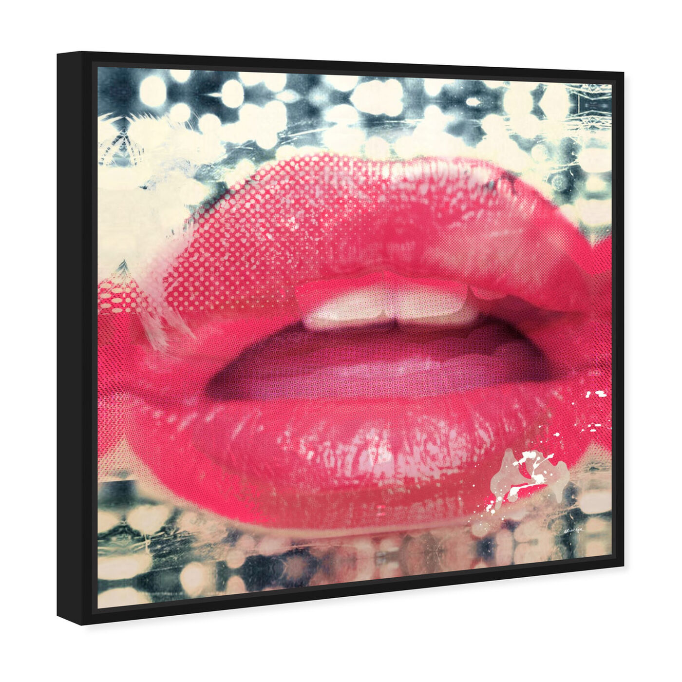 Angled view of Lips II featuring fashion and glam and lips art.