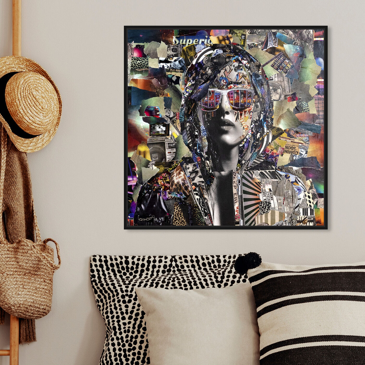 Hanging view of Katy Hirschfeld - Bountiful Visage featuring fashion and glam and portraits art.