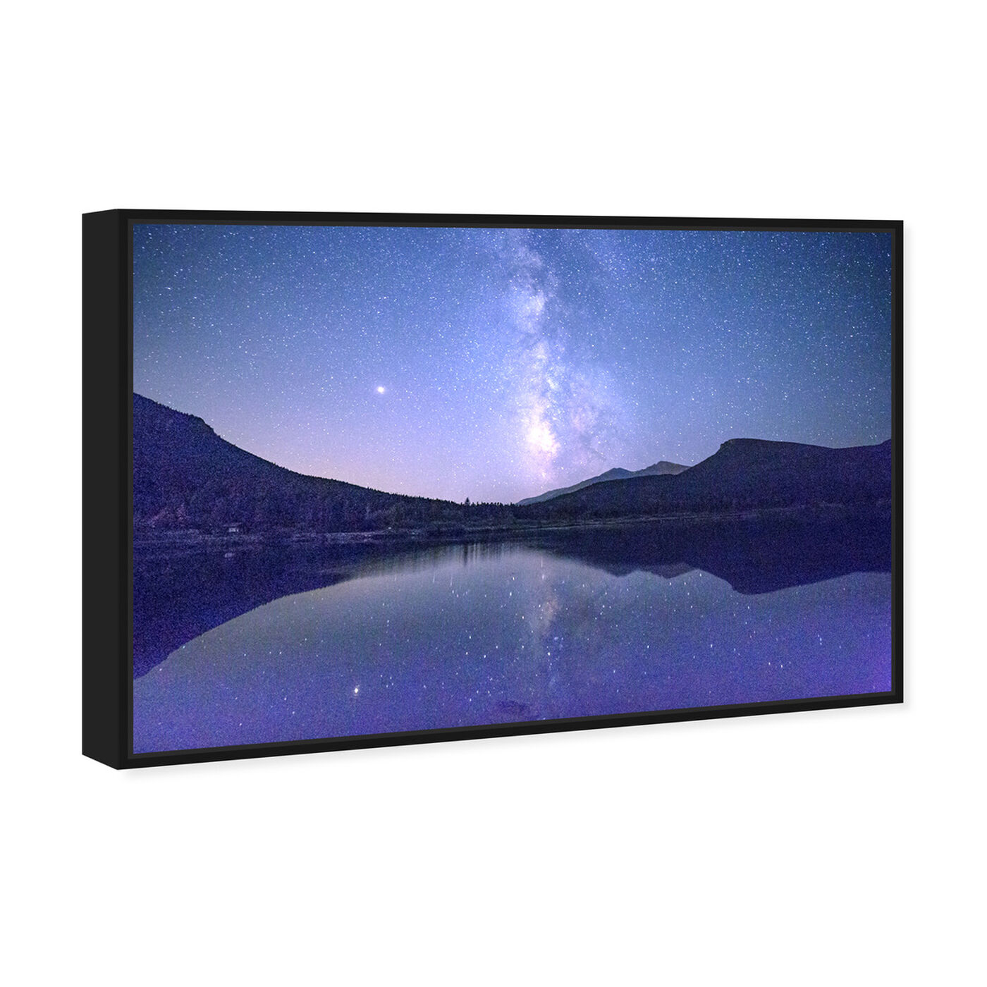 Angled view of Curro Cardenal - Starry Night featuring nature and landscape and mountains art.