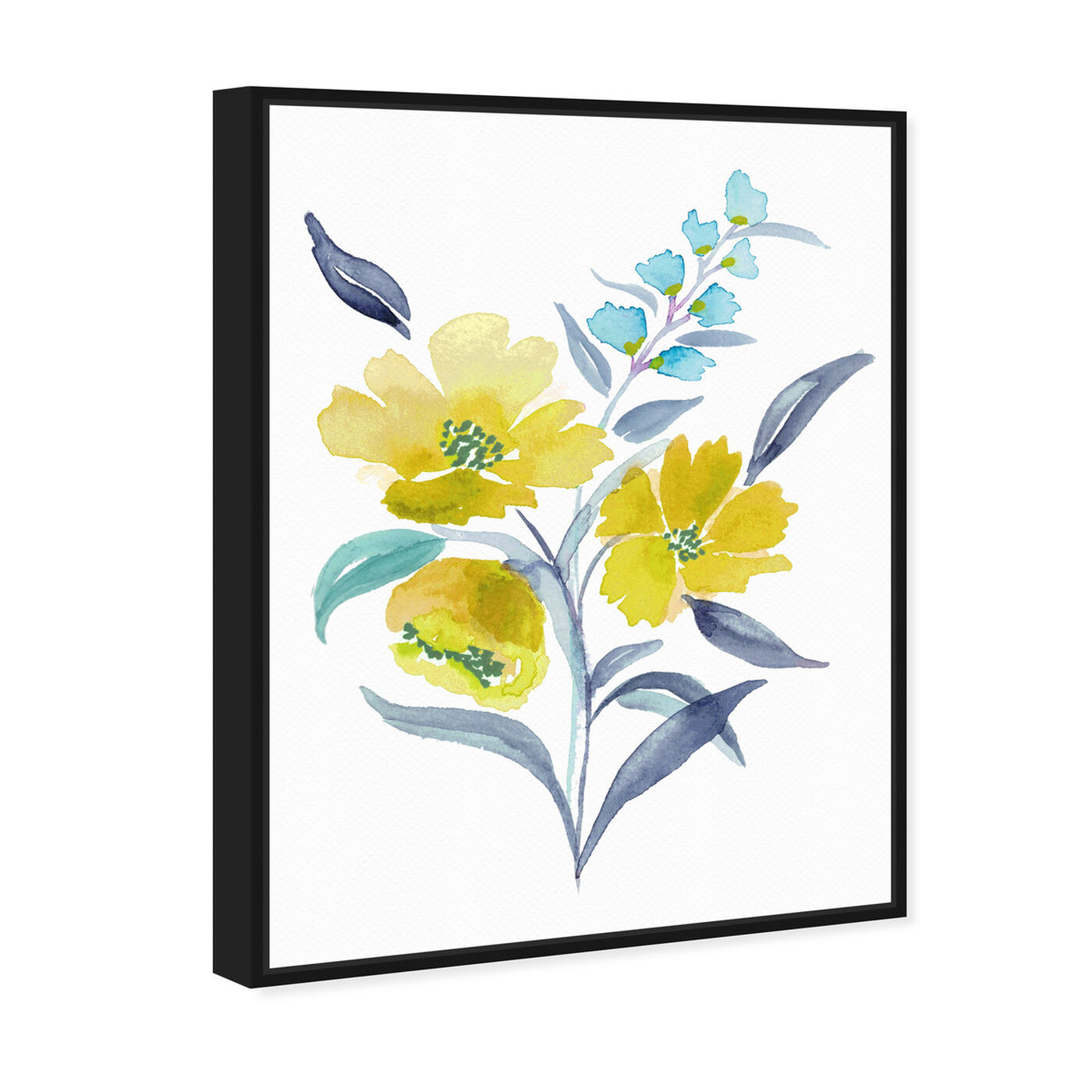 Angled view of Spring Meadowlark Bouquet featuring floral and botanical and florals art.
