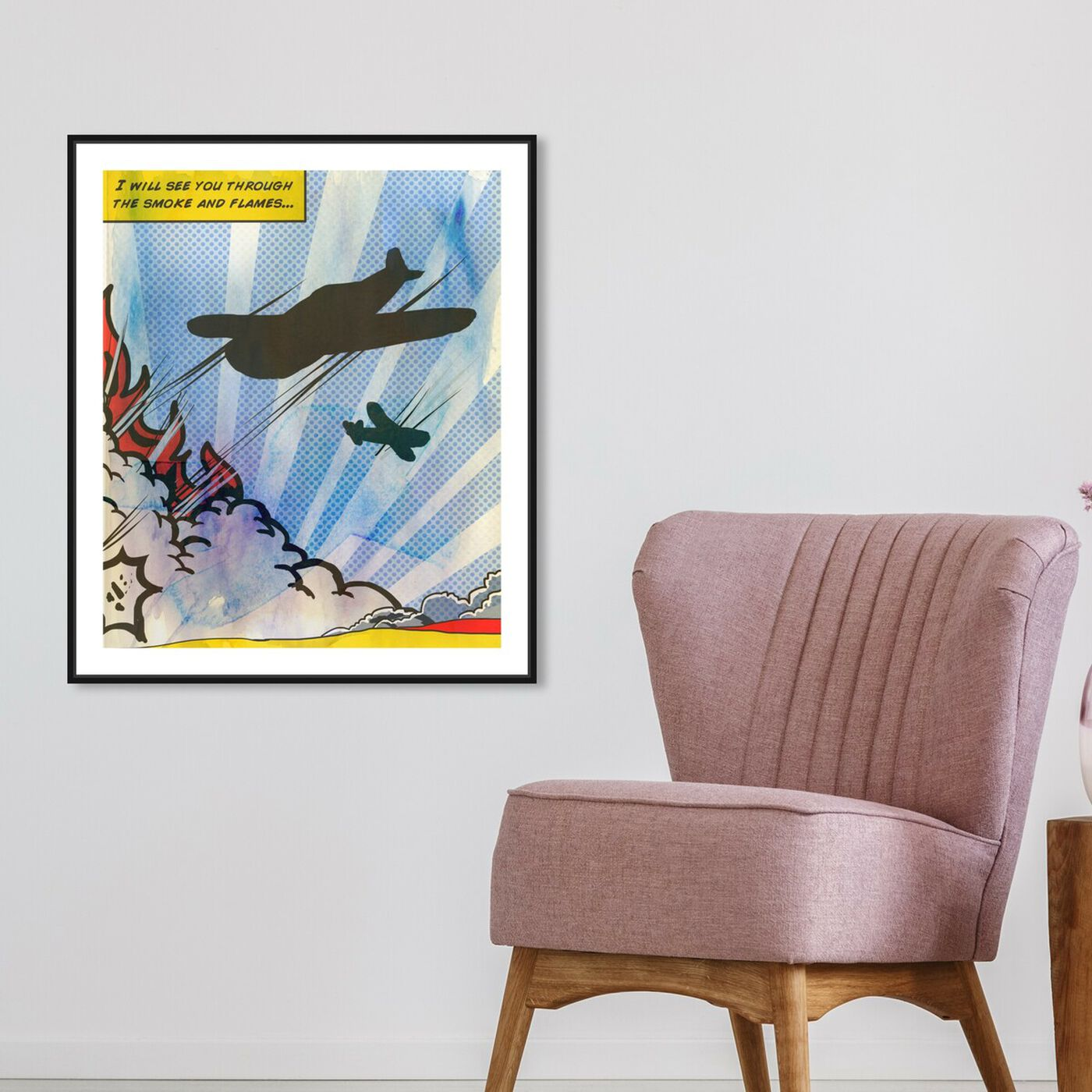 Hanging view of Rockets featuring advertising and comics art.