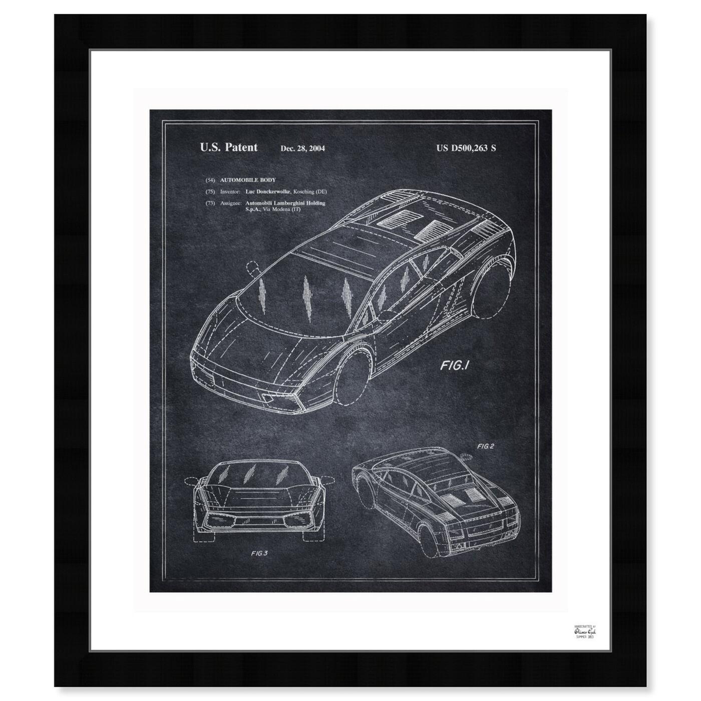 Front view of Lamborghini Gallardo 2004 featuring transportation and automobiles art.
