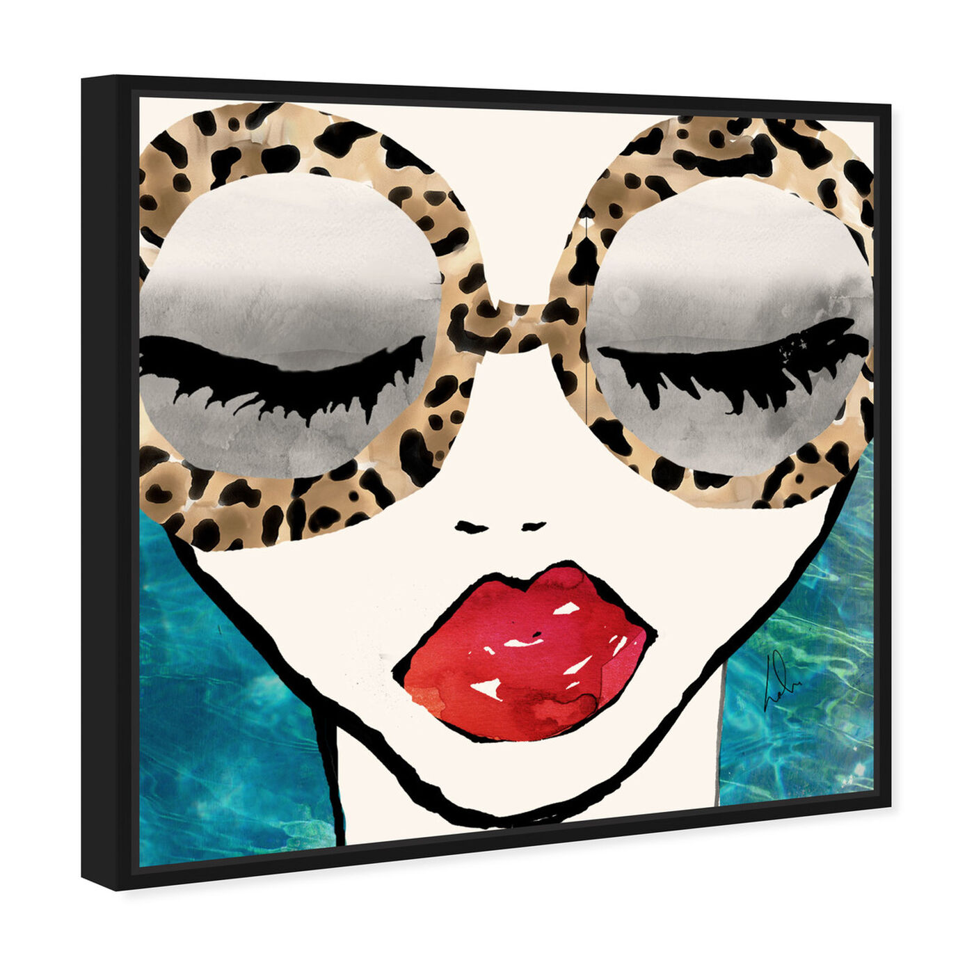 Angled view of Ready for the Sea featuring fashion and glam and portraits art.