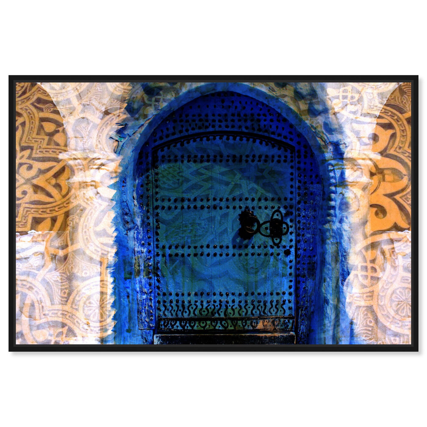 Front view of Porte du Morocco featuring world and countries and african countries art.