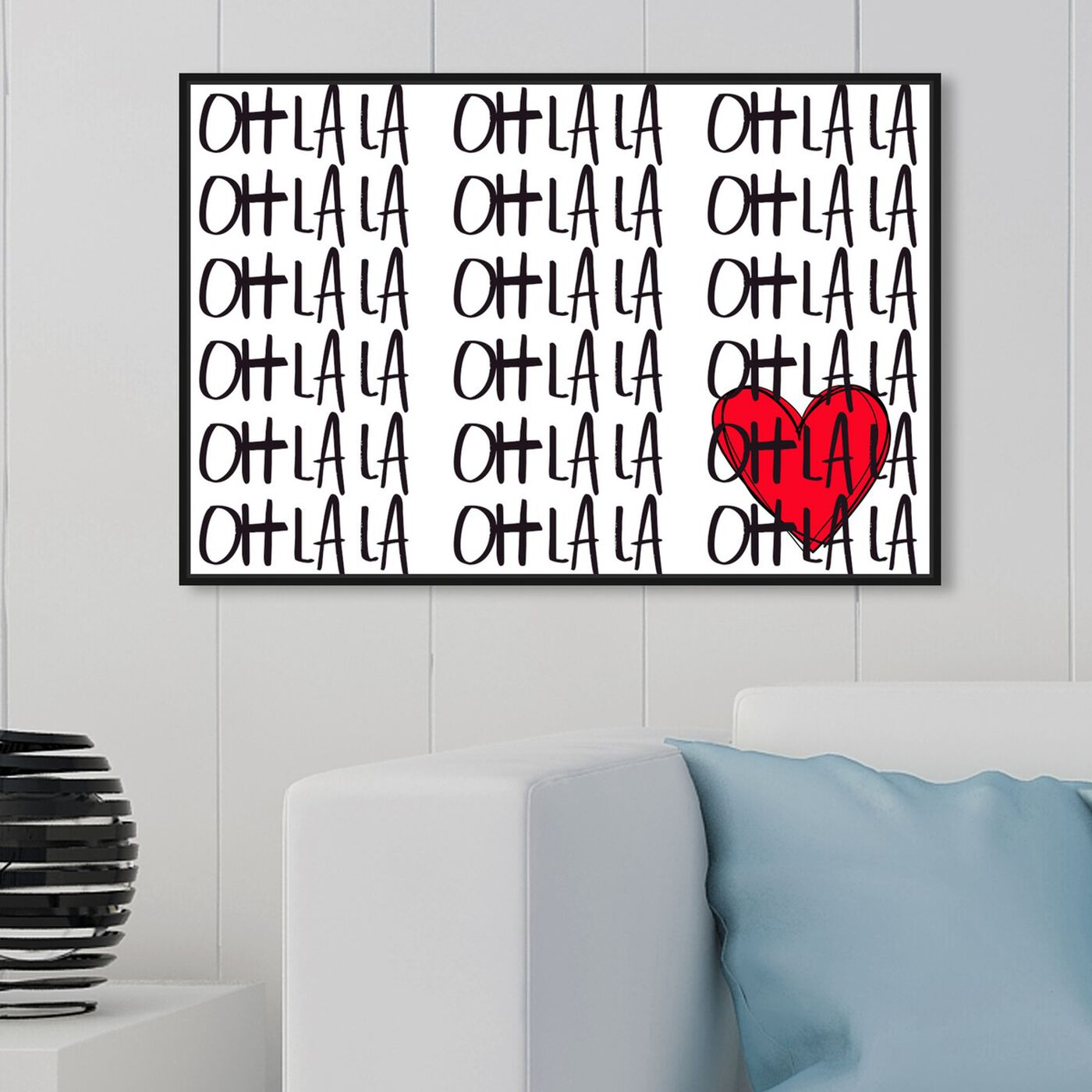 Hanging view of OHLALA featuring typography and quotes and quotes and sayings art.