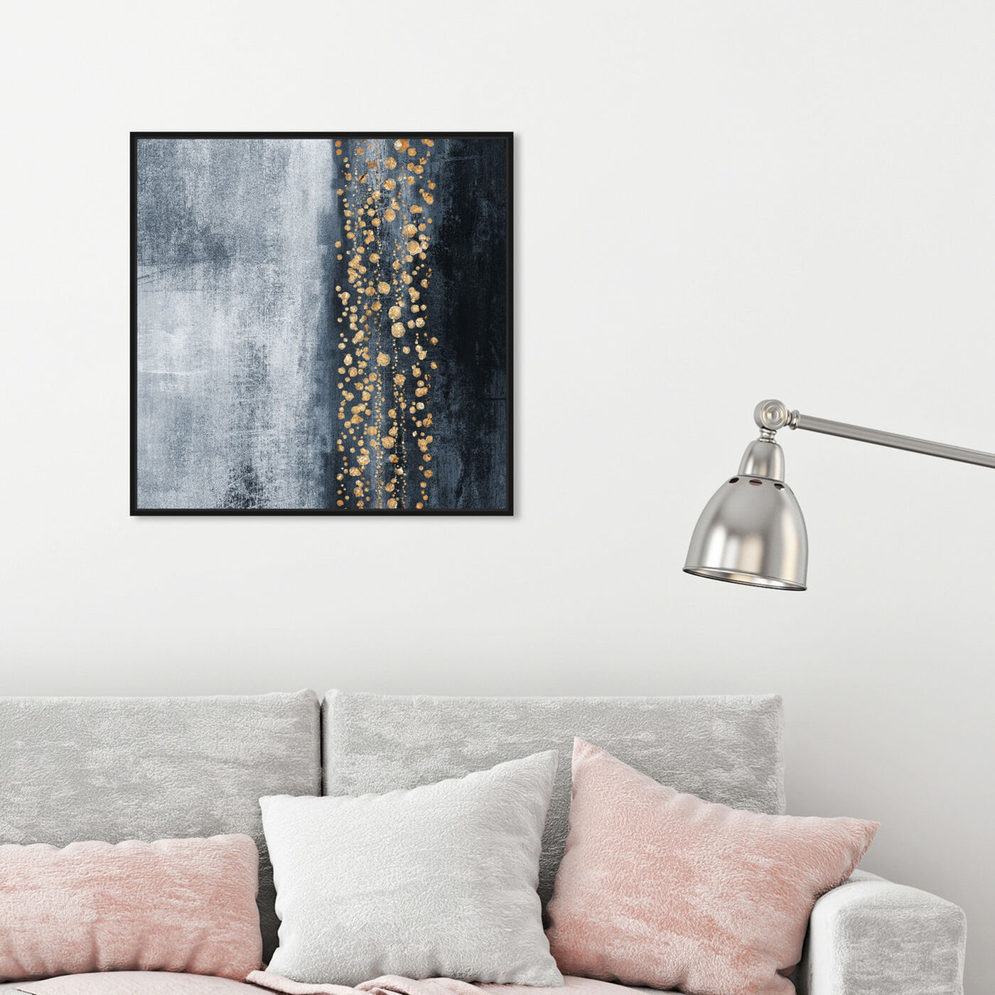Hanging view of Down The River featuring abstract and paint art.