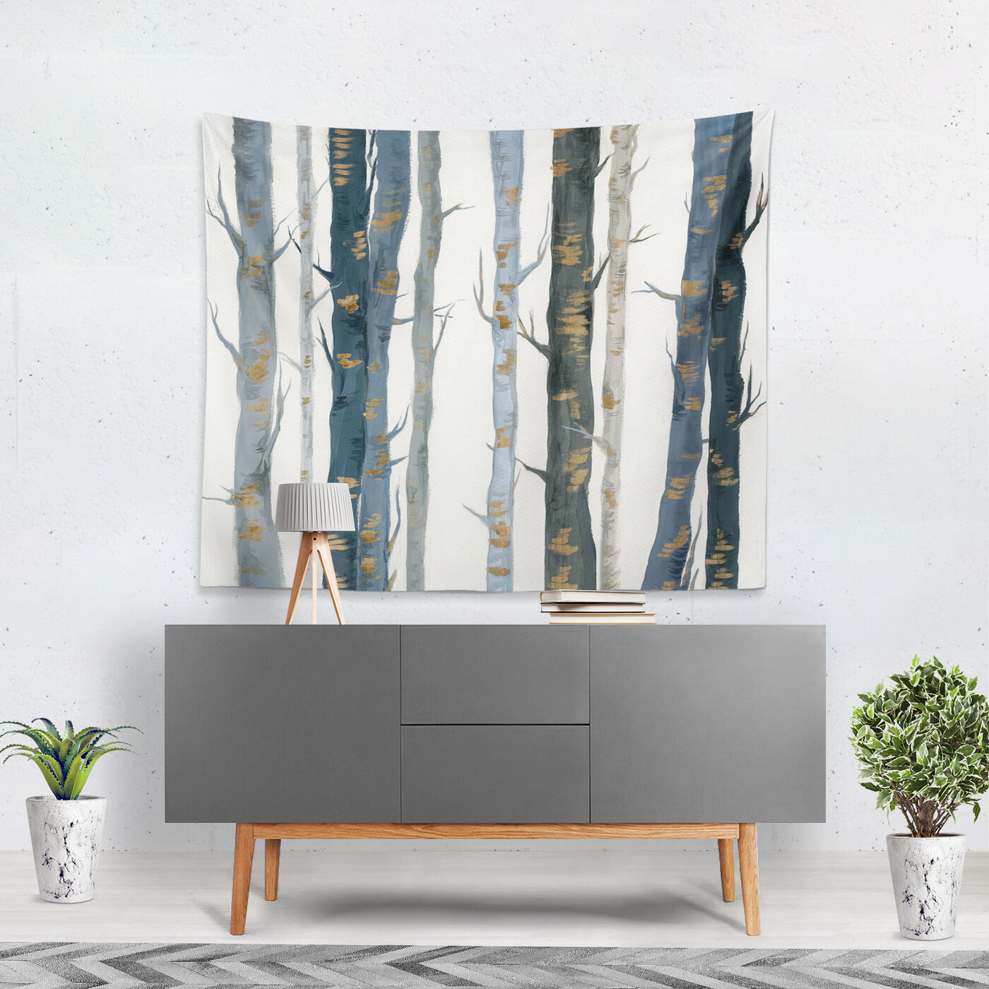 Behind the Woods Tapestry Art