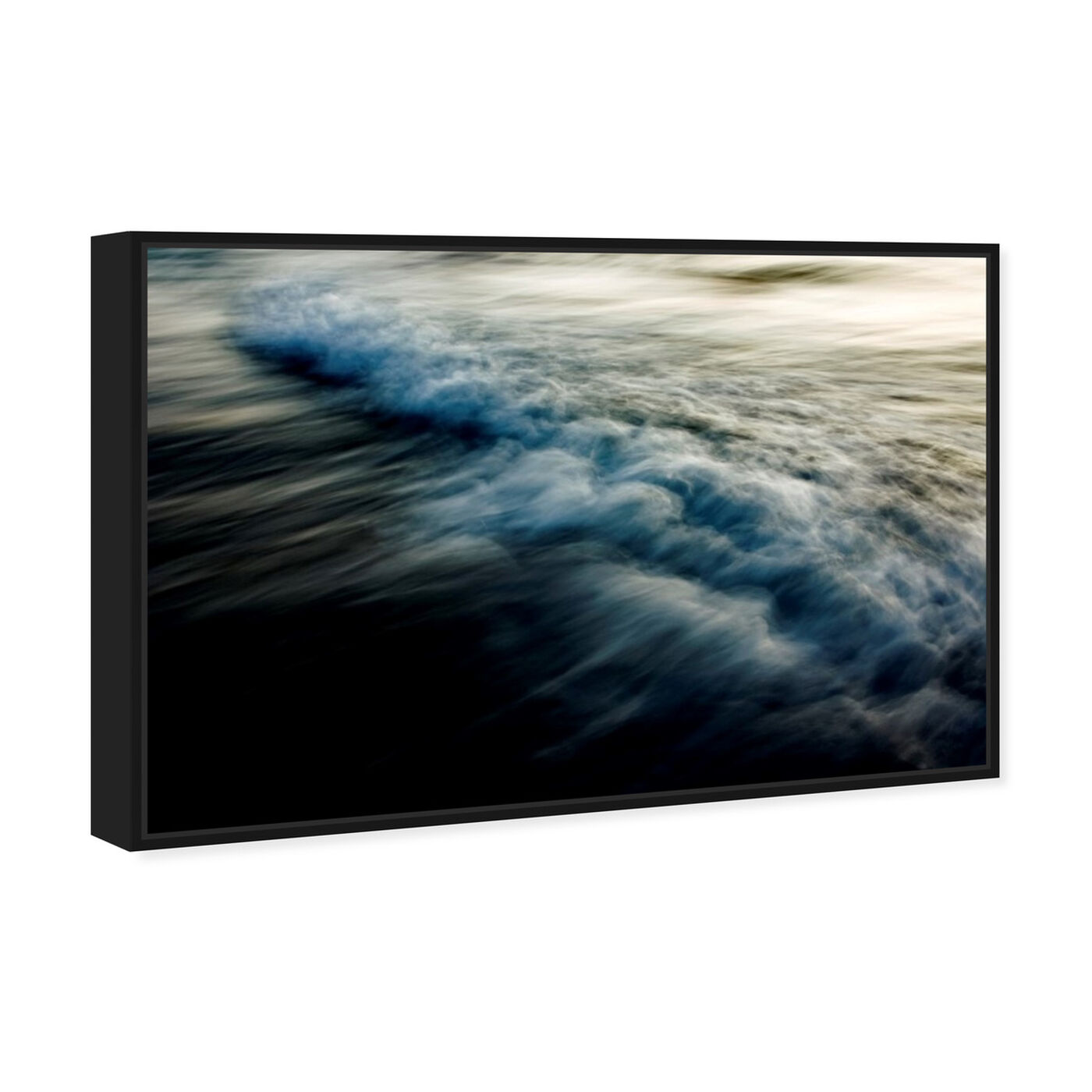 Angled view of Eternal Waves featuring nautical and coastal and coastal landscapes art.