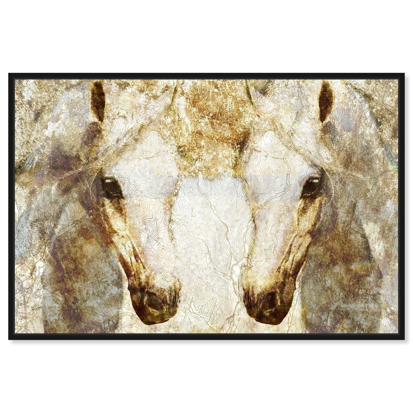 Front view of Gold Stallions featuring animals and farm animals art.
